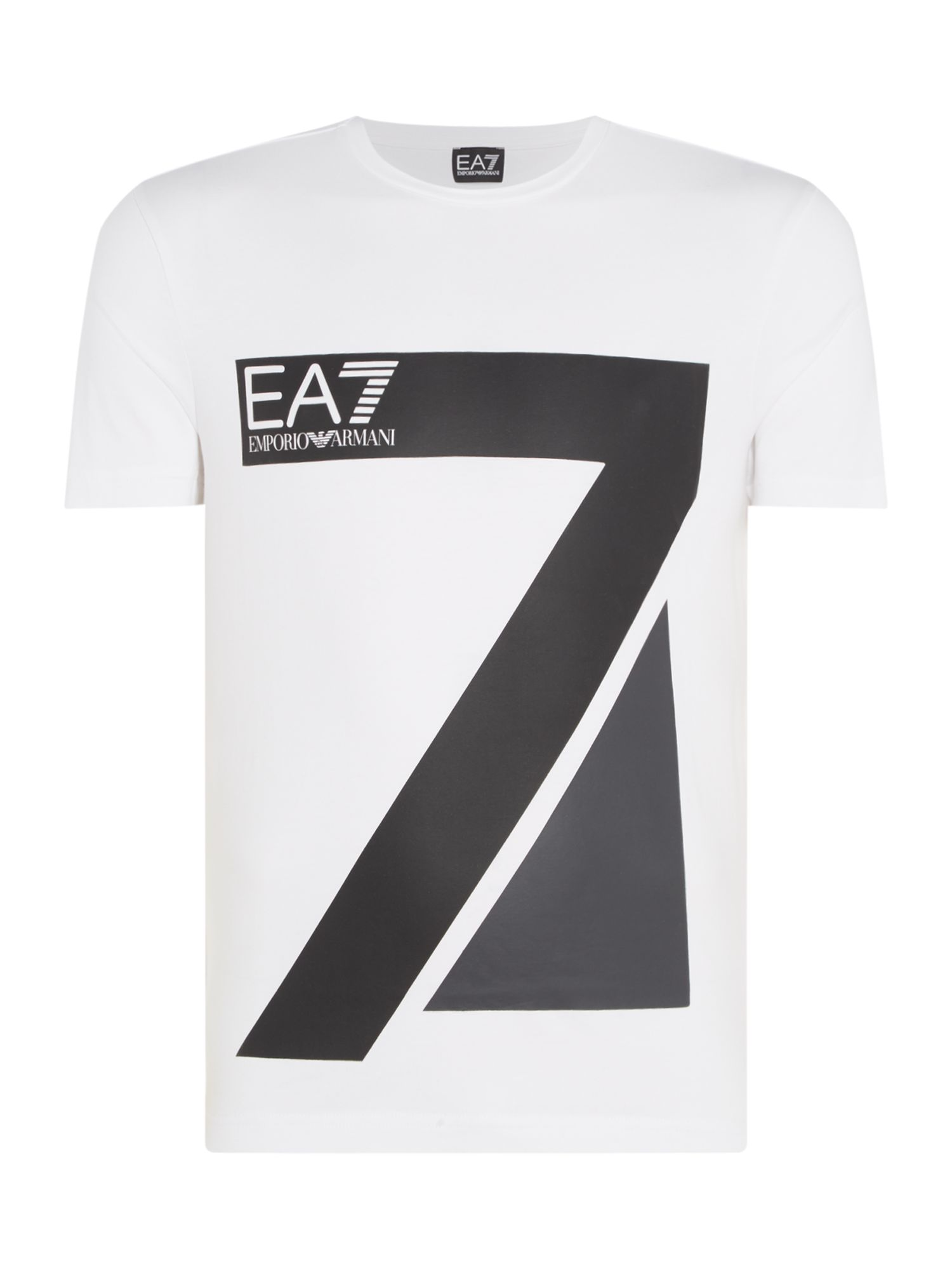 Men's EA7 Train logo 7 series crew neck T-shirt, White