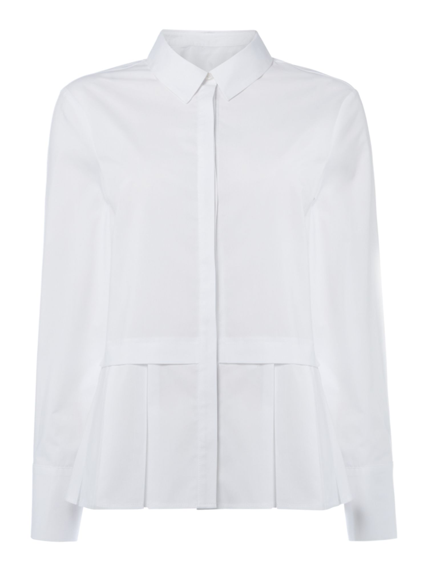Linea Delta pleat hem shirt, White
