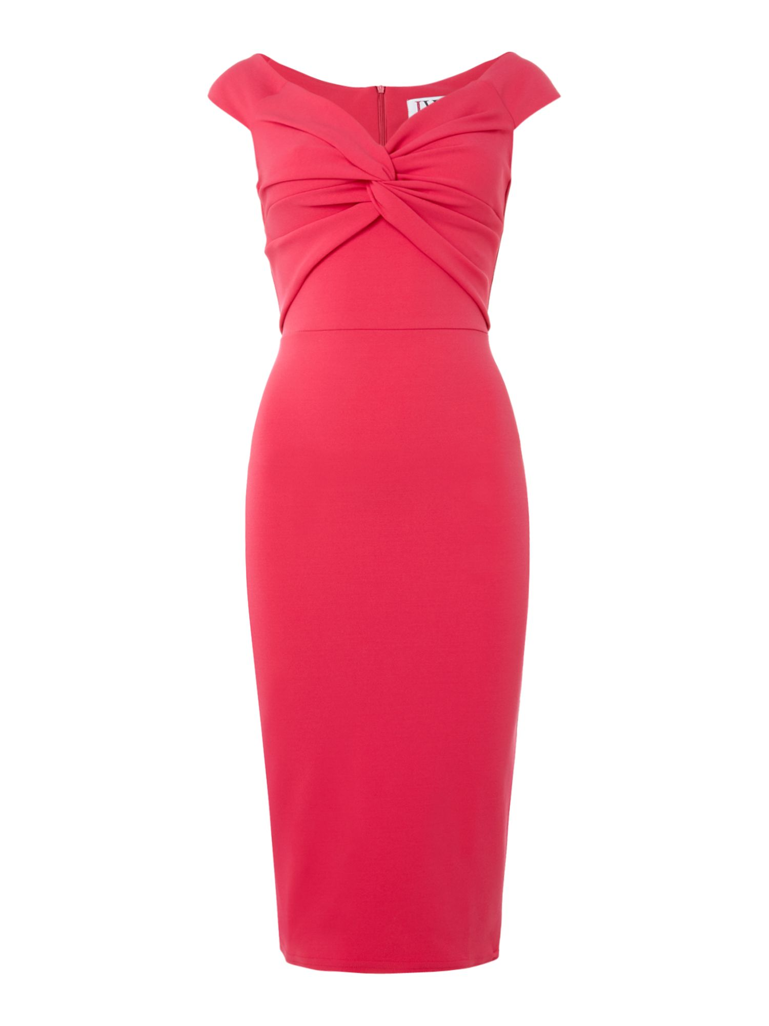 Jessica Wright Off shoulder bodycon dress, Pink