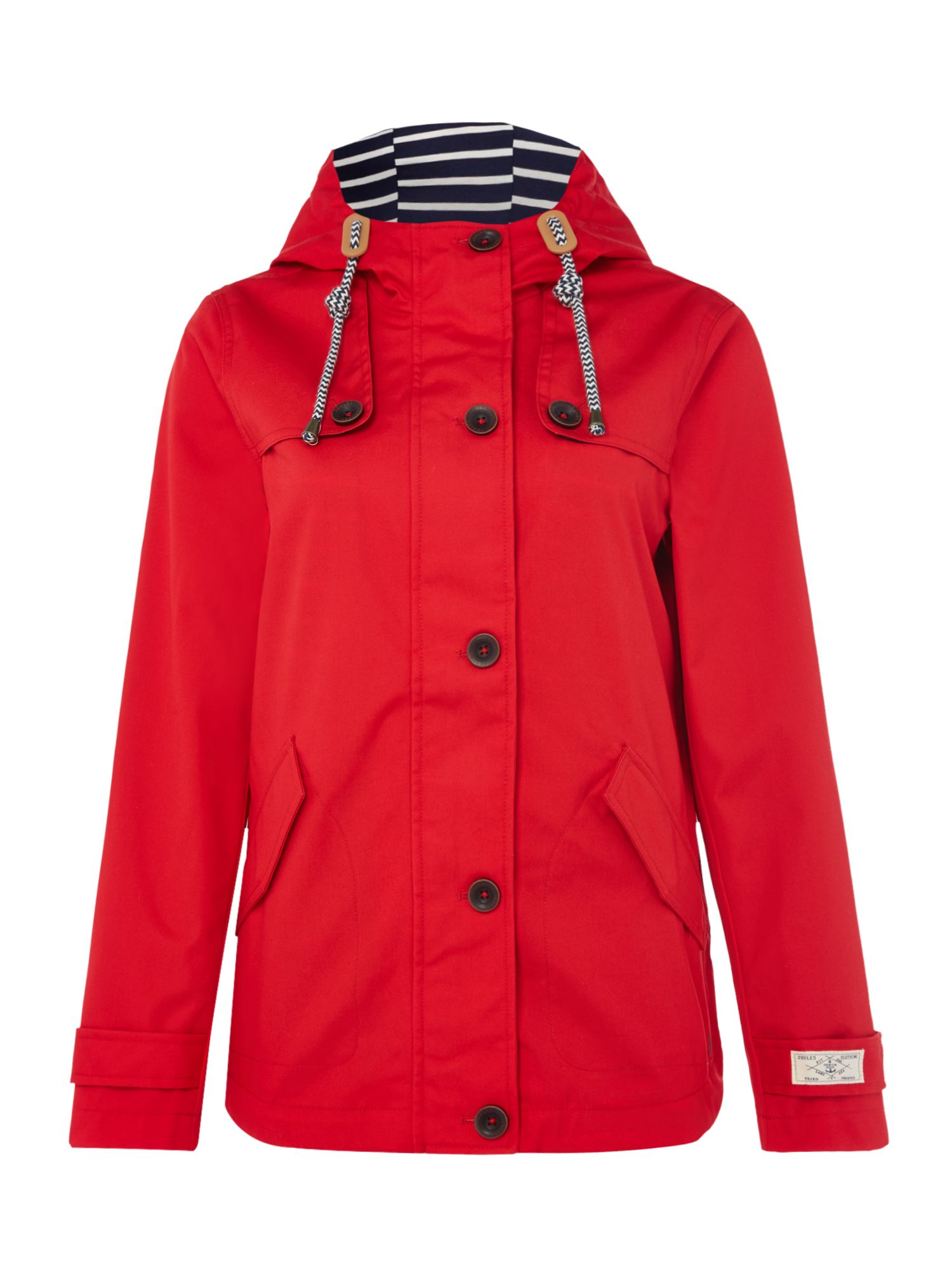 Joules Long sleeves hooded waterproof jacket, Red
