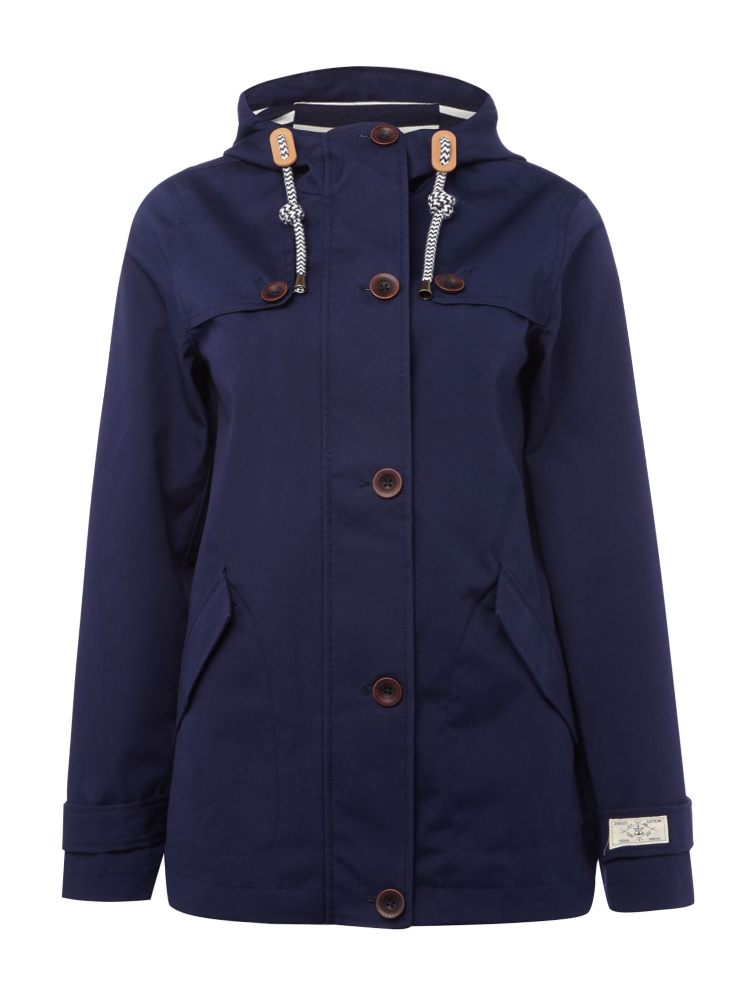Joules Long sleeves hooded waterproof jacket, French Blue