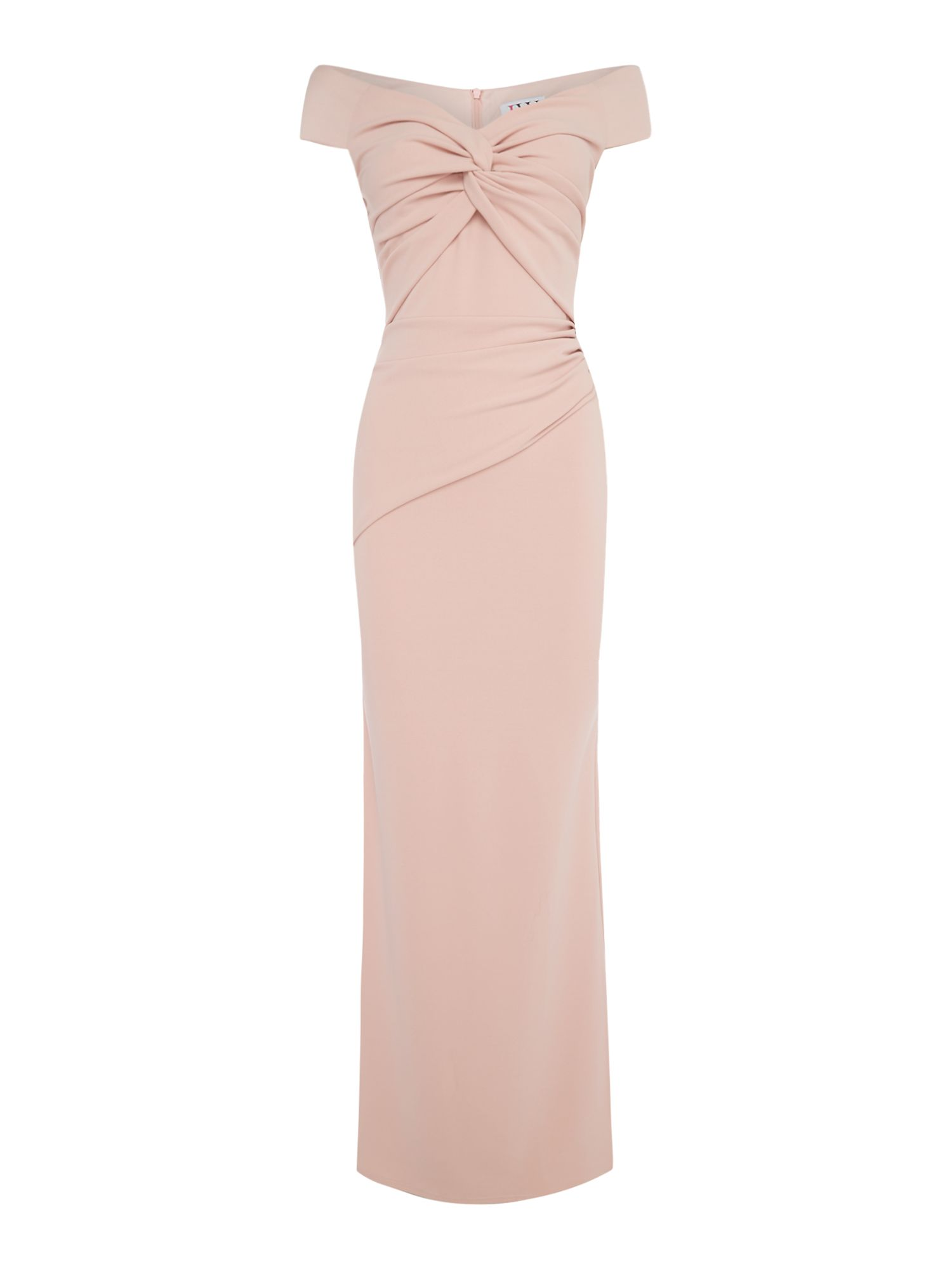 Jessica Wright Frill shoulder maxi dress, Pink