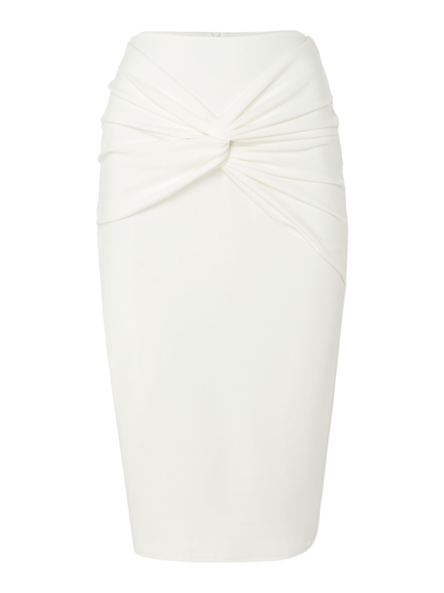Jessica Wright KNOT FRONT SKIRT, White