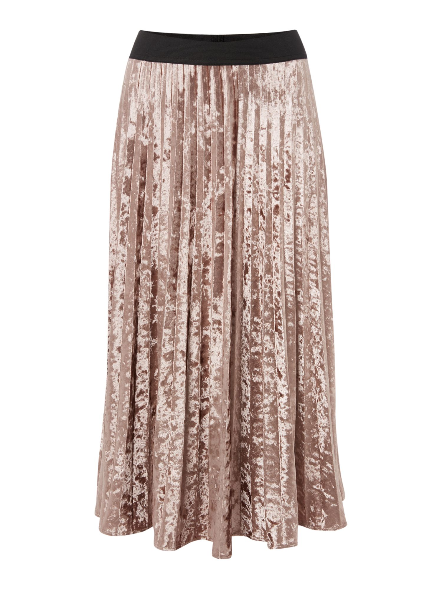 Label Lab VELVET PLEATED SKIRT, Pink