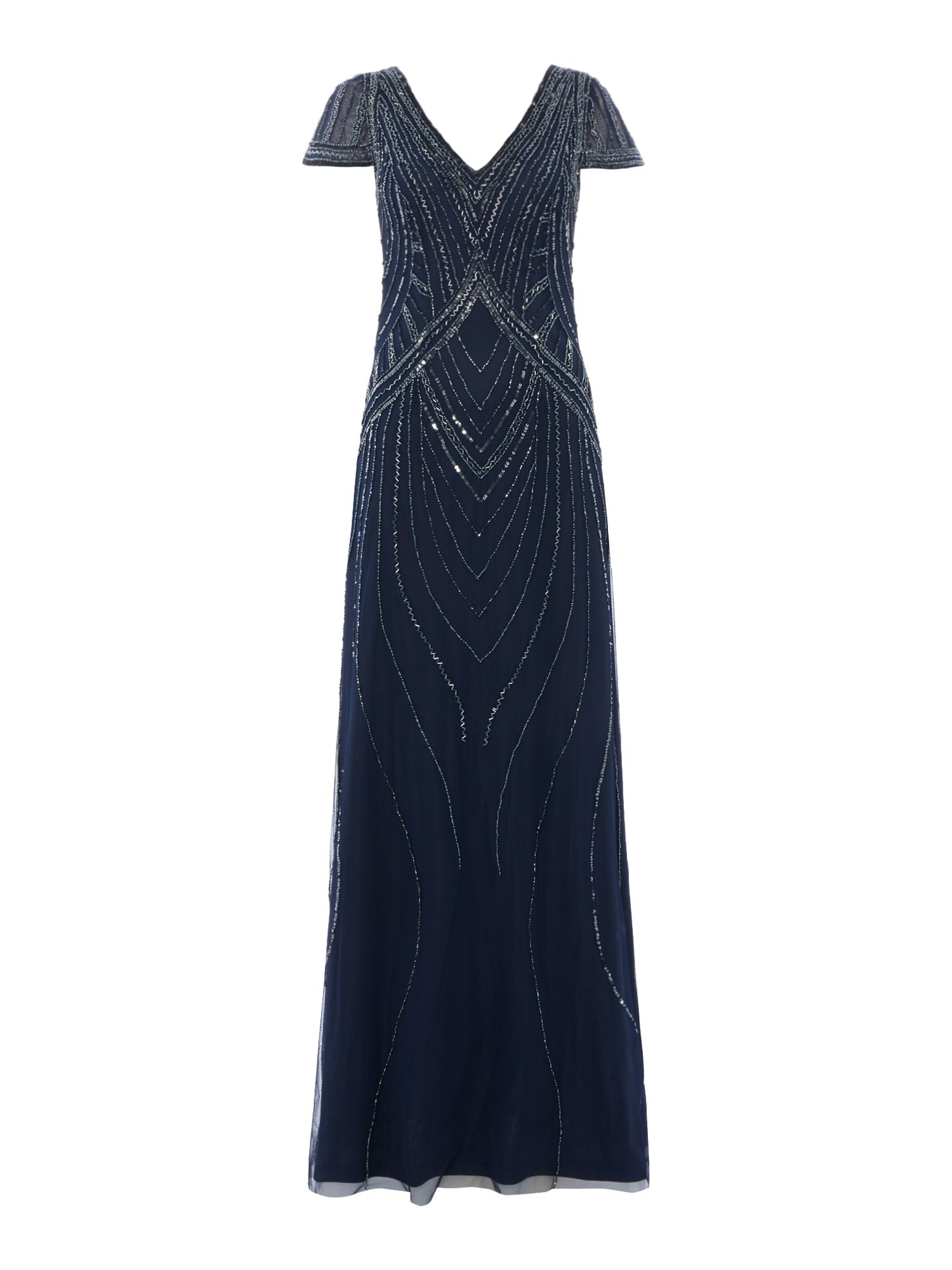 Frock and Frill Sequin maxi dress, Indigo