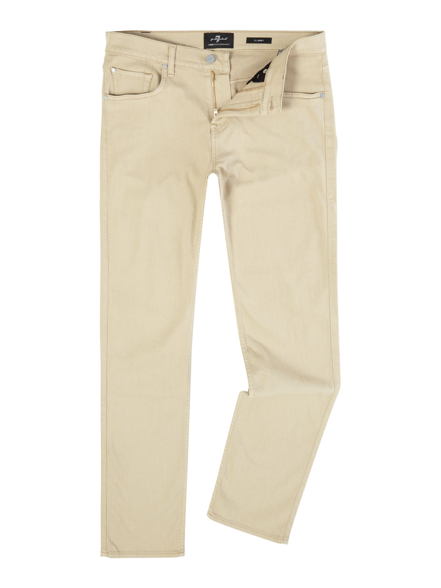 Mens Slim Fit Slimmy Luxe Performance Jeans, White