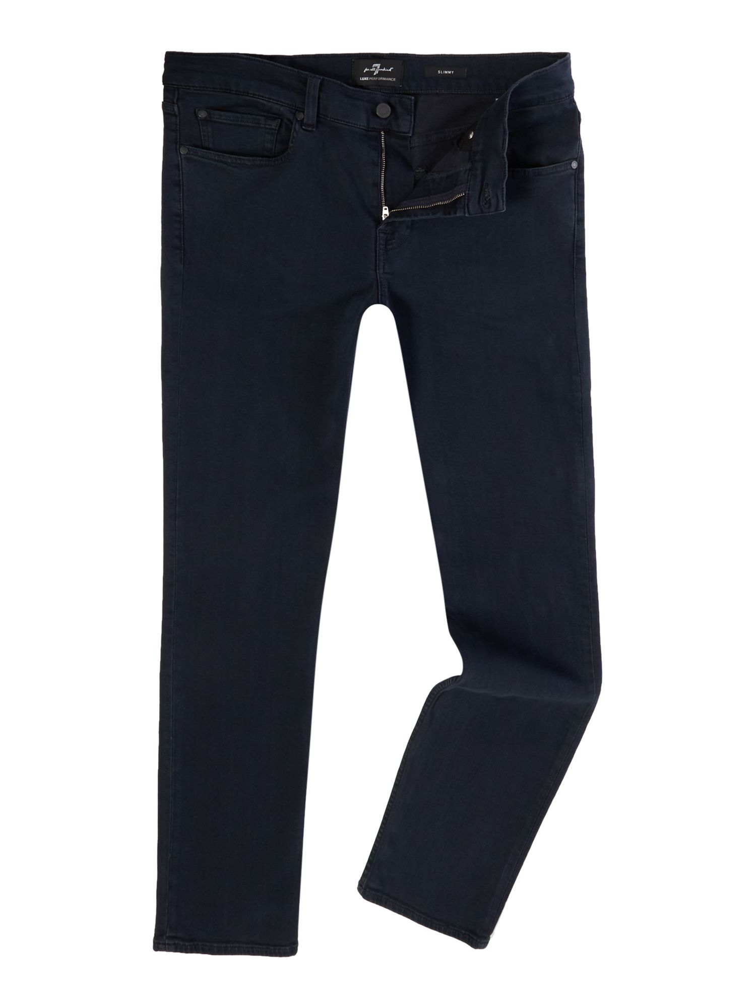 Mens Slim Fit Slimmy Luxe Performance Jeans, Denim Mid Wash