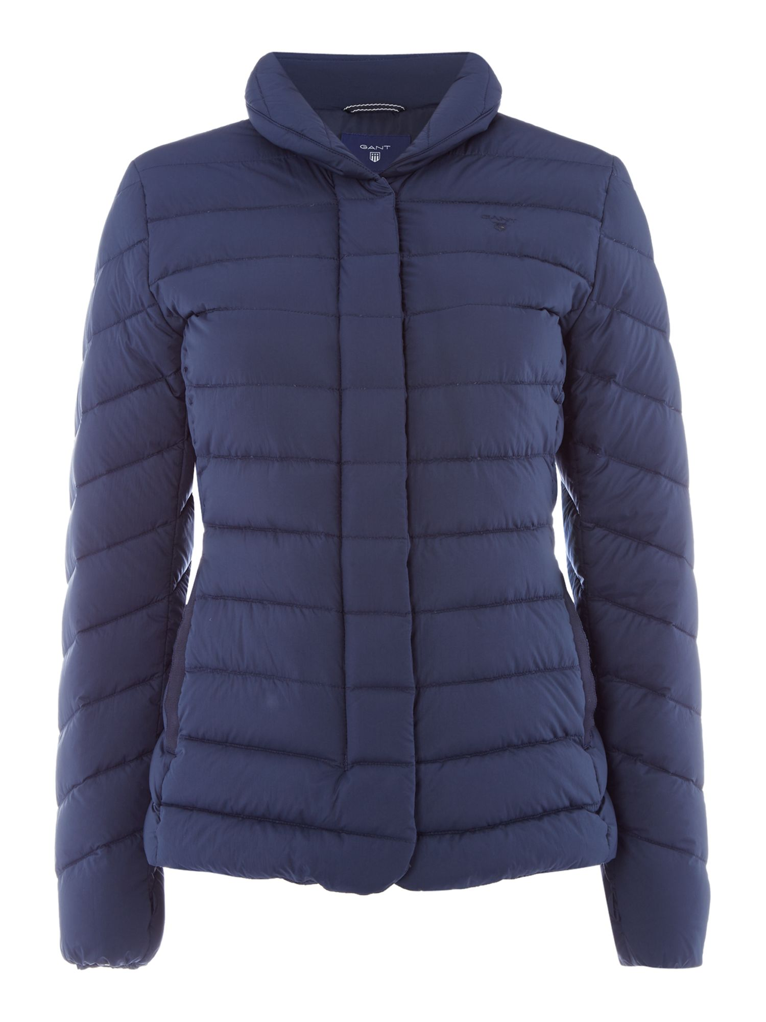 Gant Lightweight Down Short Jacket With Stand Collar, Blue