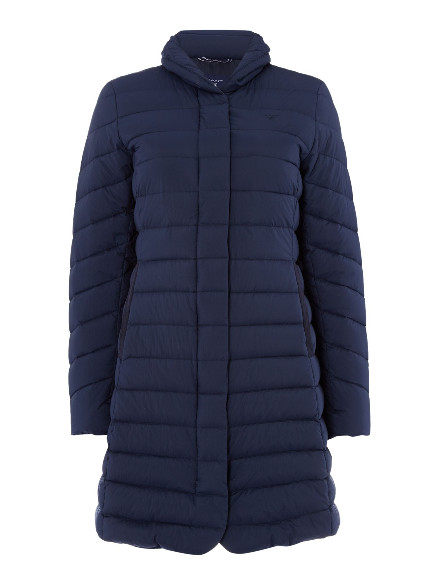 Gant Light Weight Down Quilted Coat, Blue