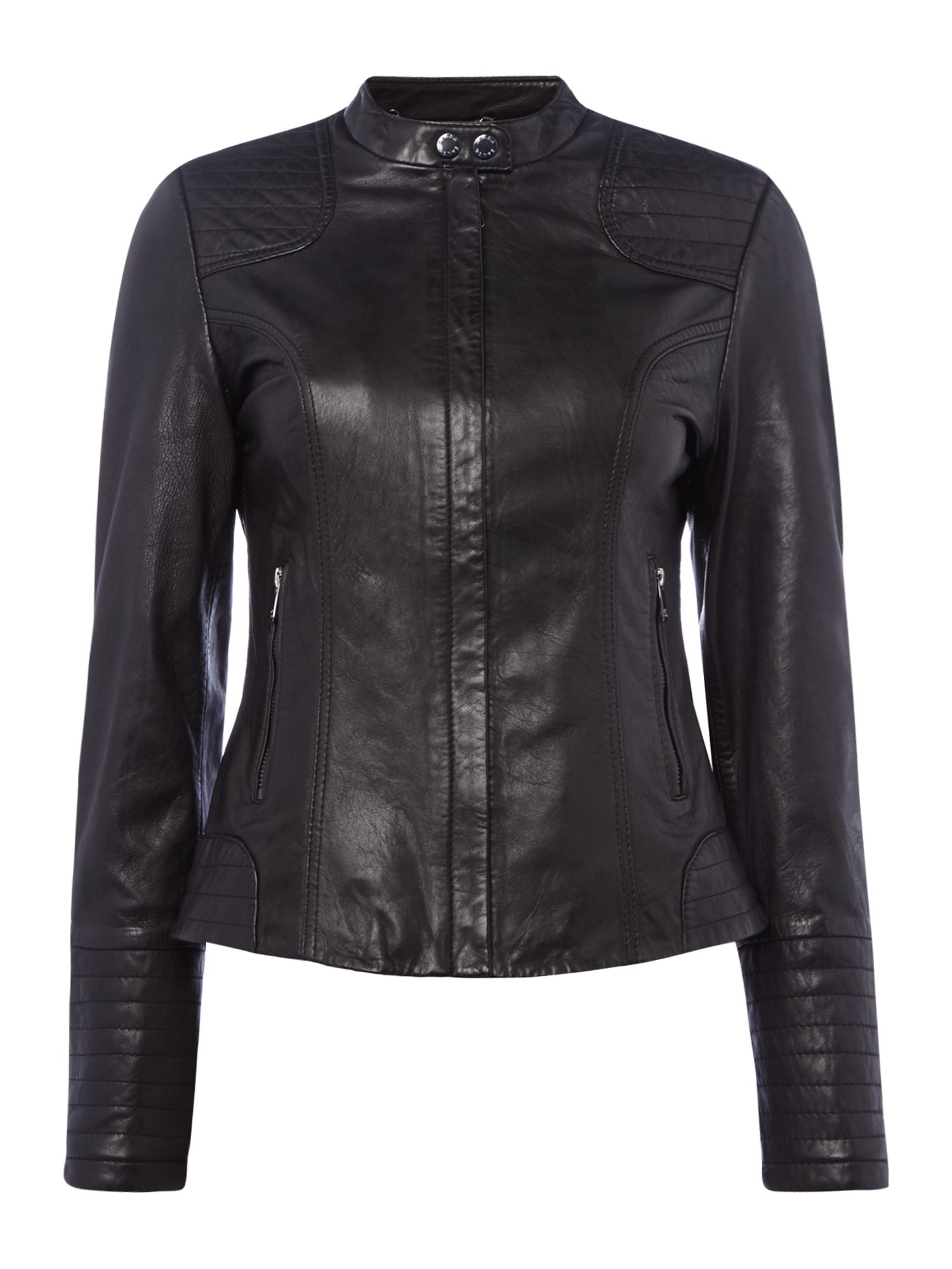 Salsa Leather Jacket in Black, Black