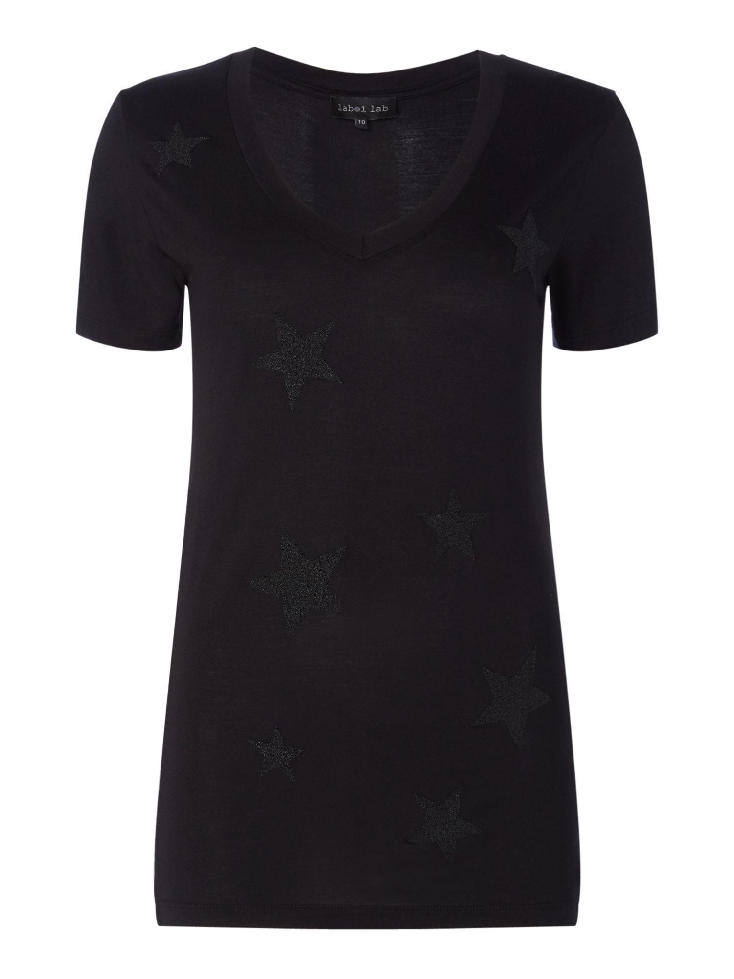 Label Lab Star Tee, Black