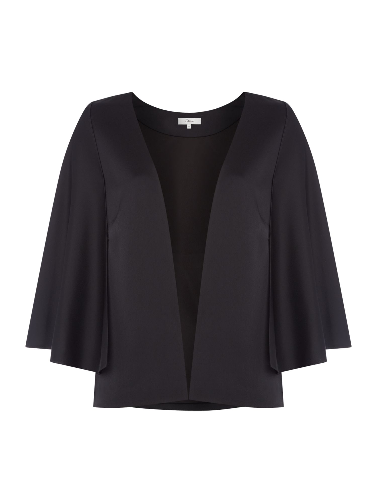ISSA Kimberley cape jacket, Black
