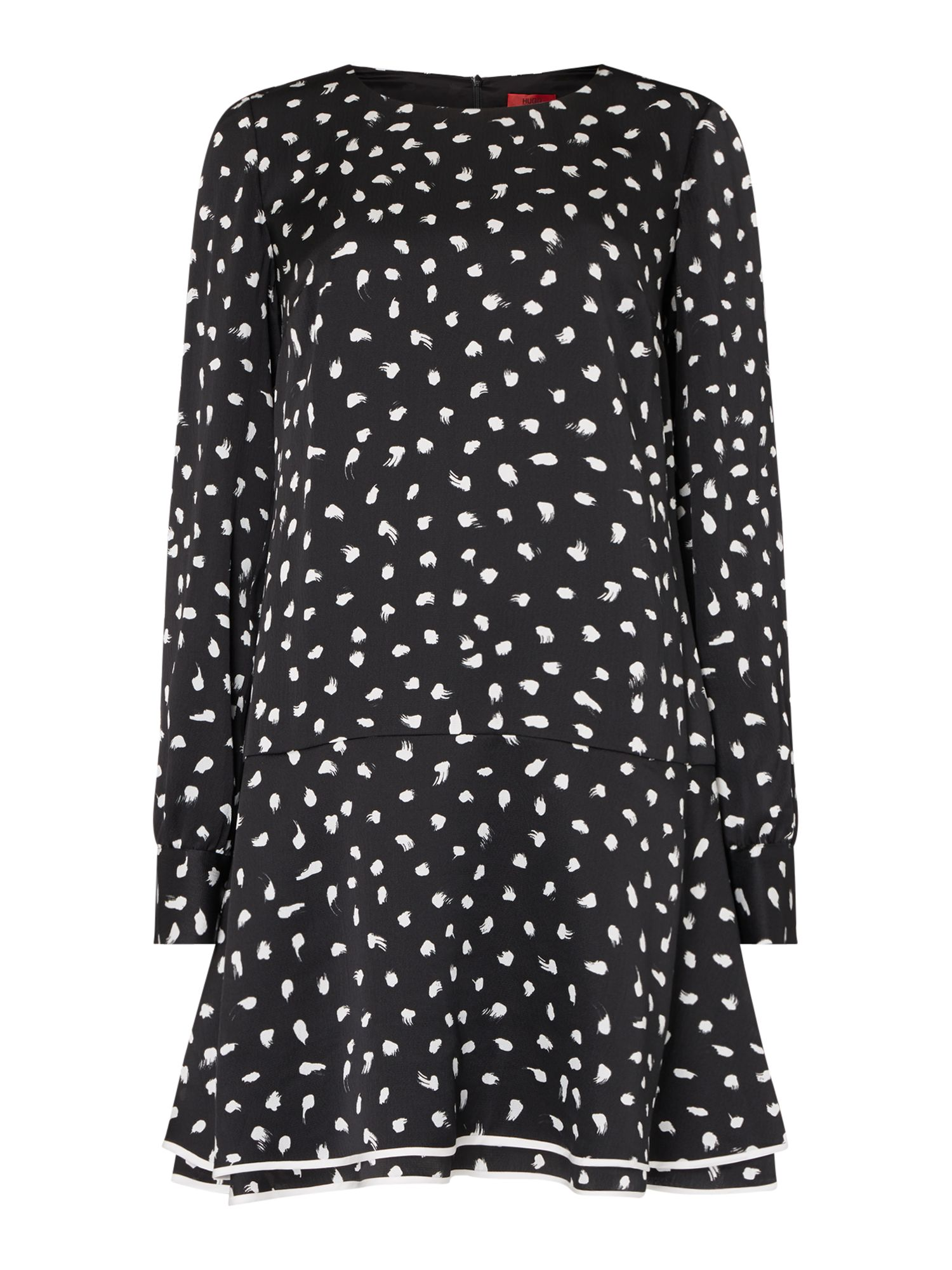 Hugo Klena paint dot dress, Black