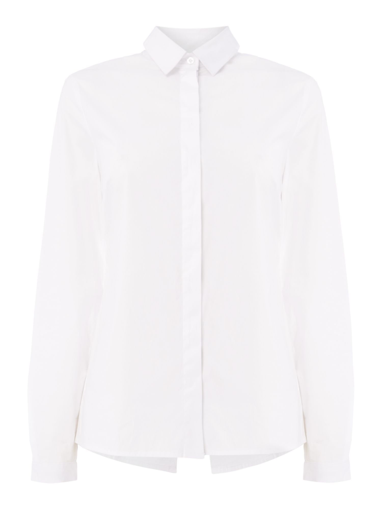 Oui White button front shirt, White