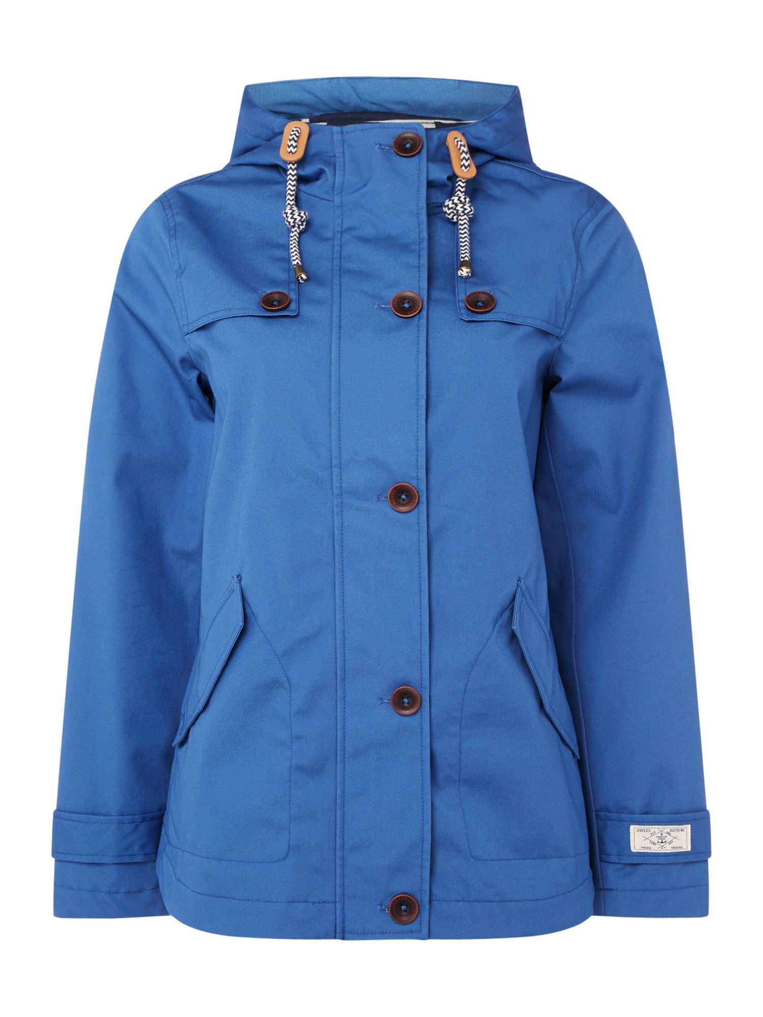 Joules Long sleeves hooded waterproof jacket, Blue