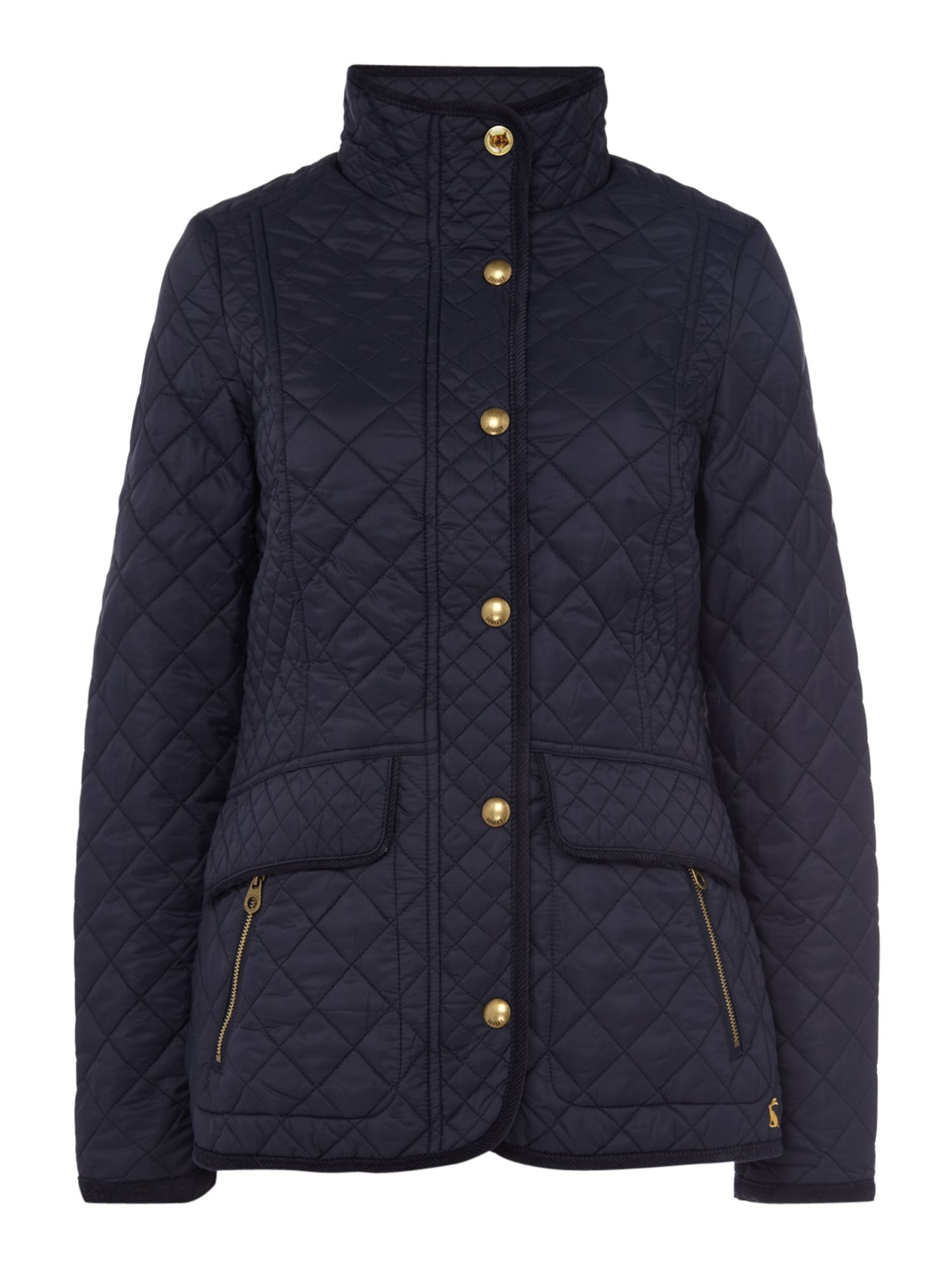 Joules Quilted coat, Marine