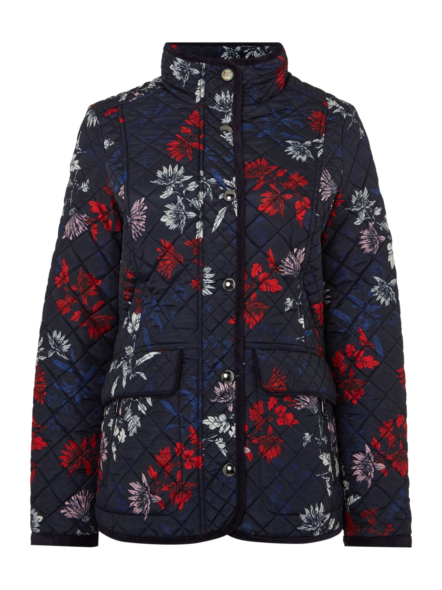 Joules Long sleeves quilted coat, Marine