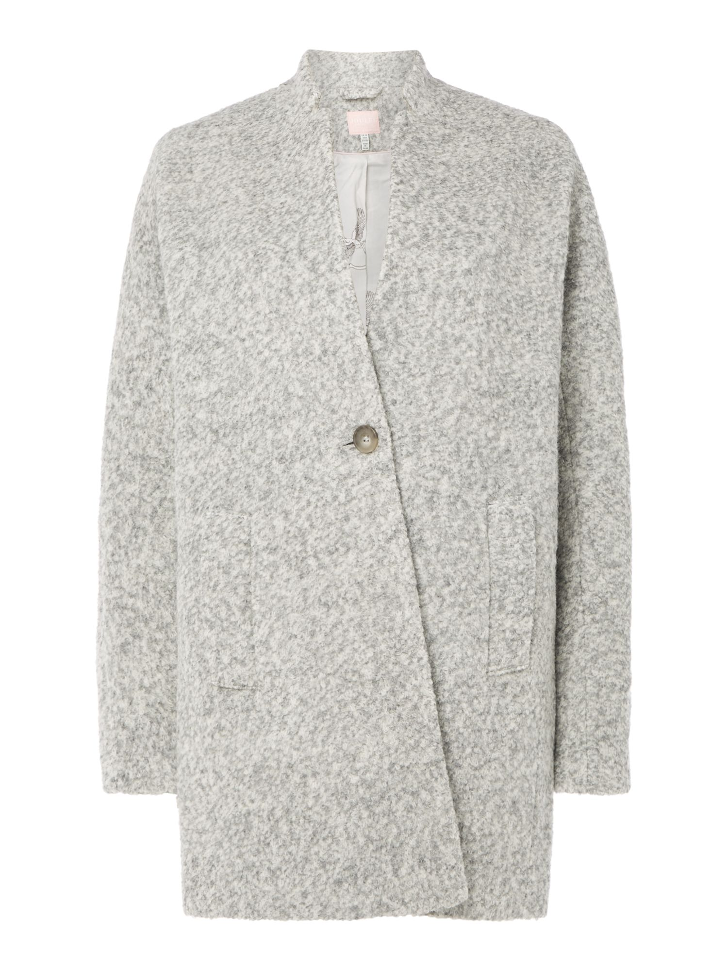 Joules BOUCLE WOOL COAT, Grey