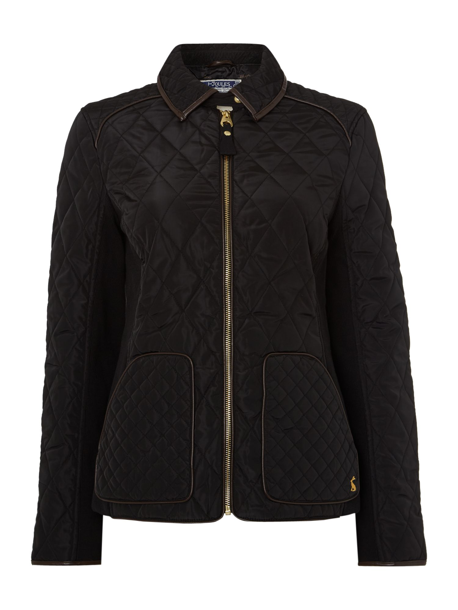 Joules Quilted coat, Black