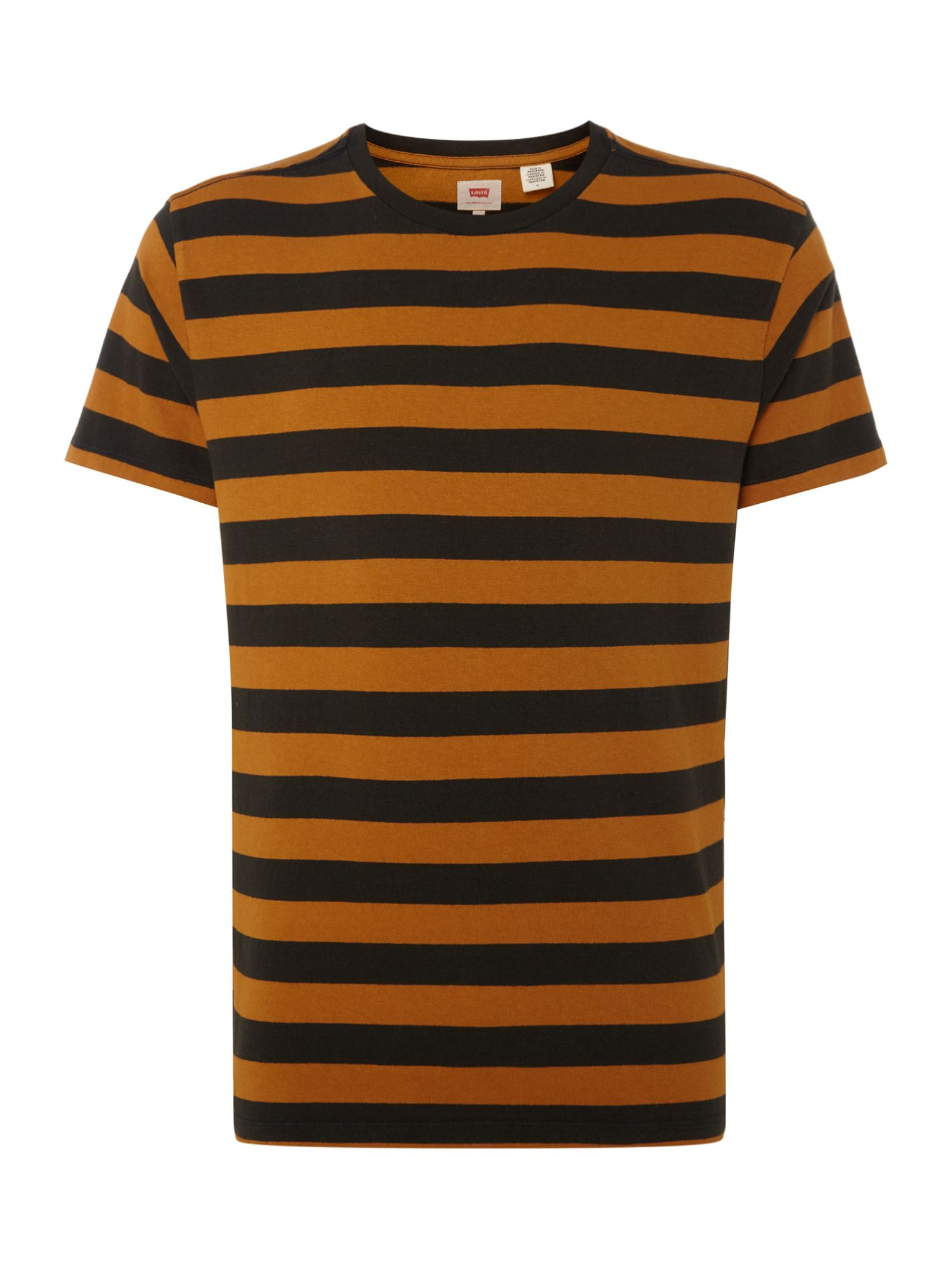 Men's Levi's Bass stripe mighty t-shirt, Mustard