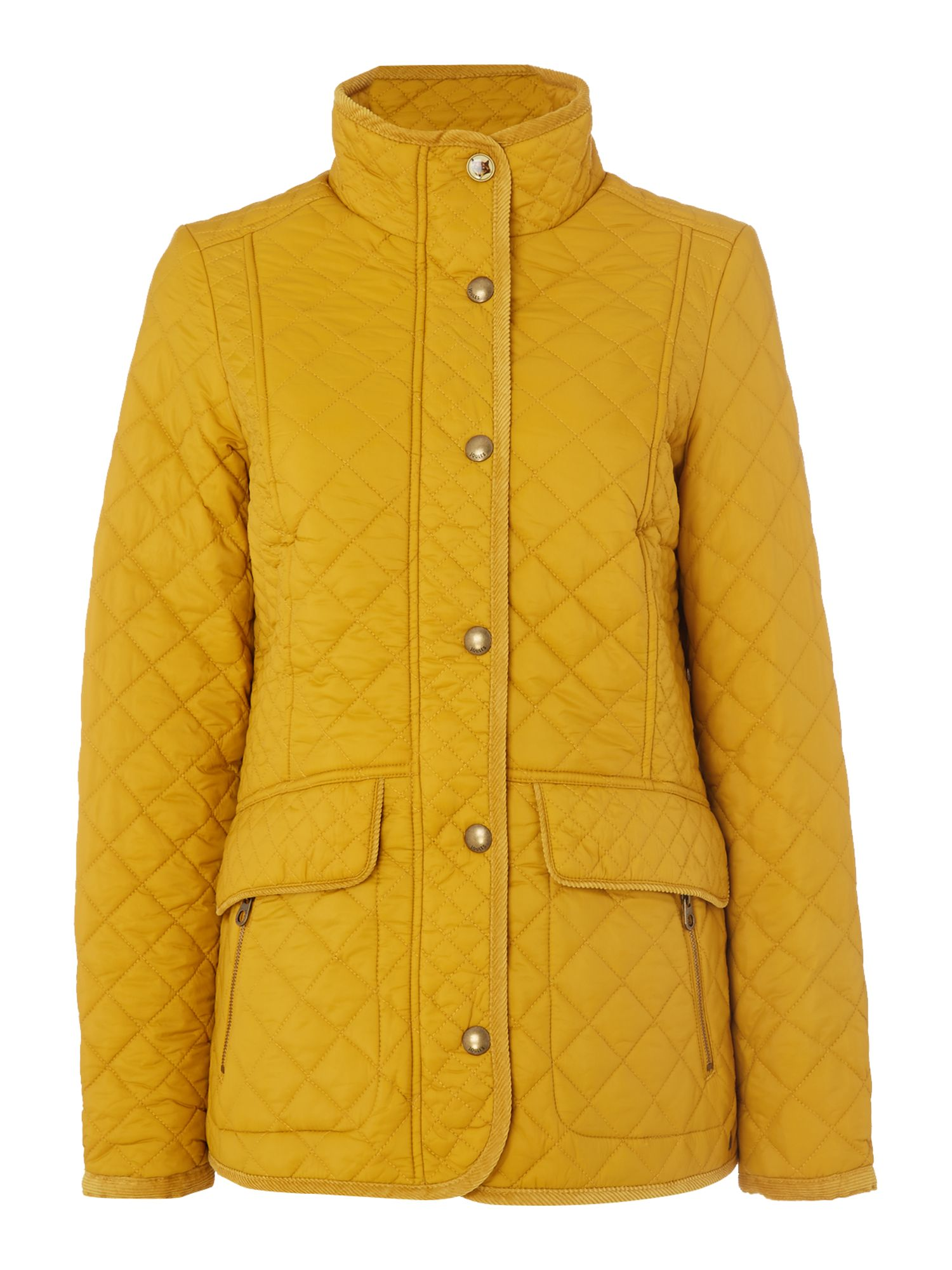 Joules Quilted coat, Caramel