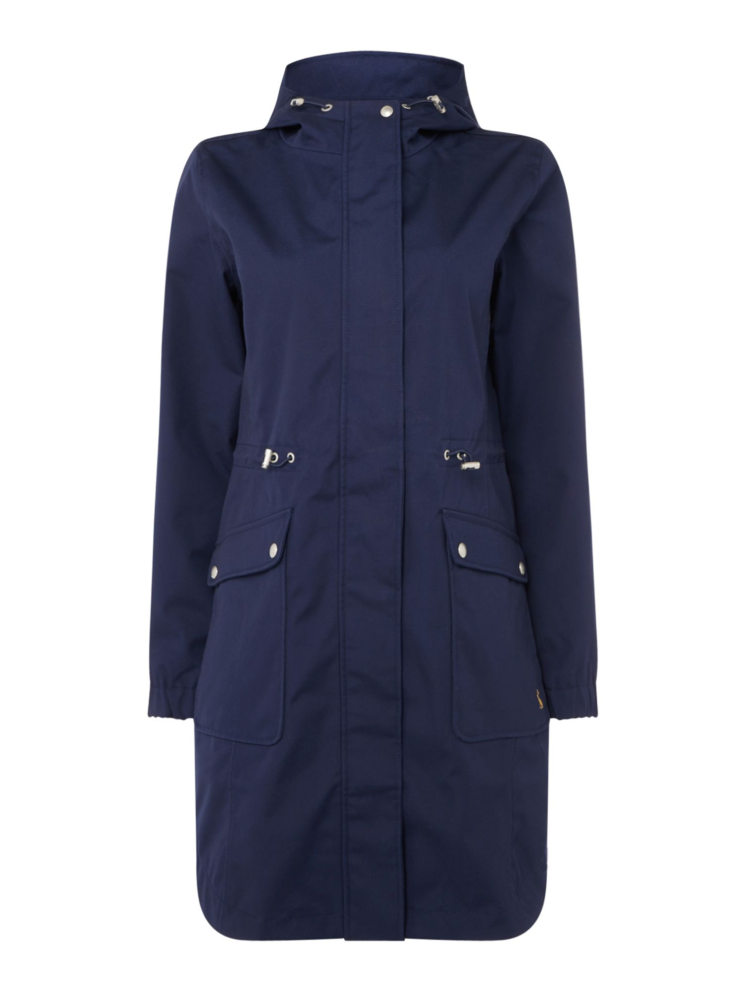 Joules Waterproof gooded parka, French Blue
