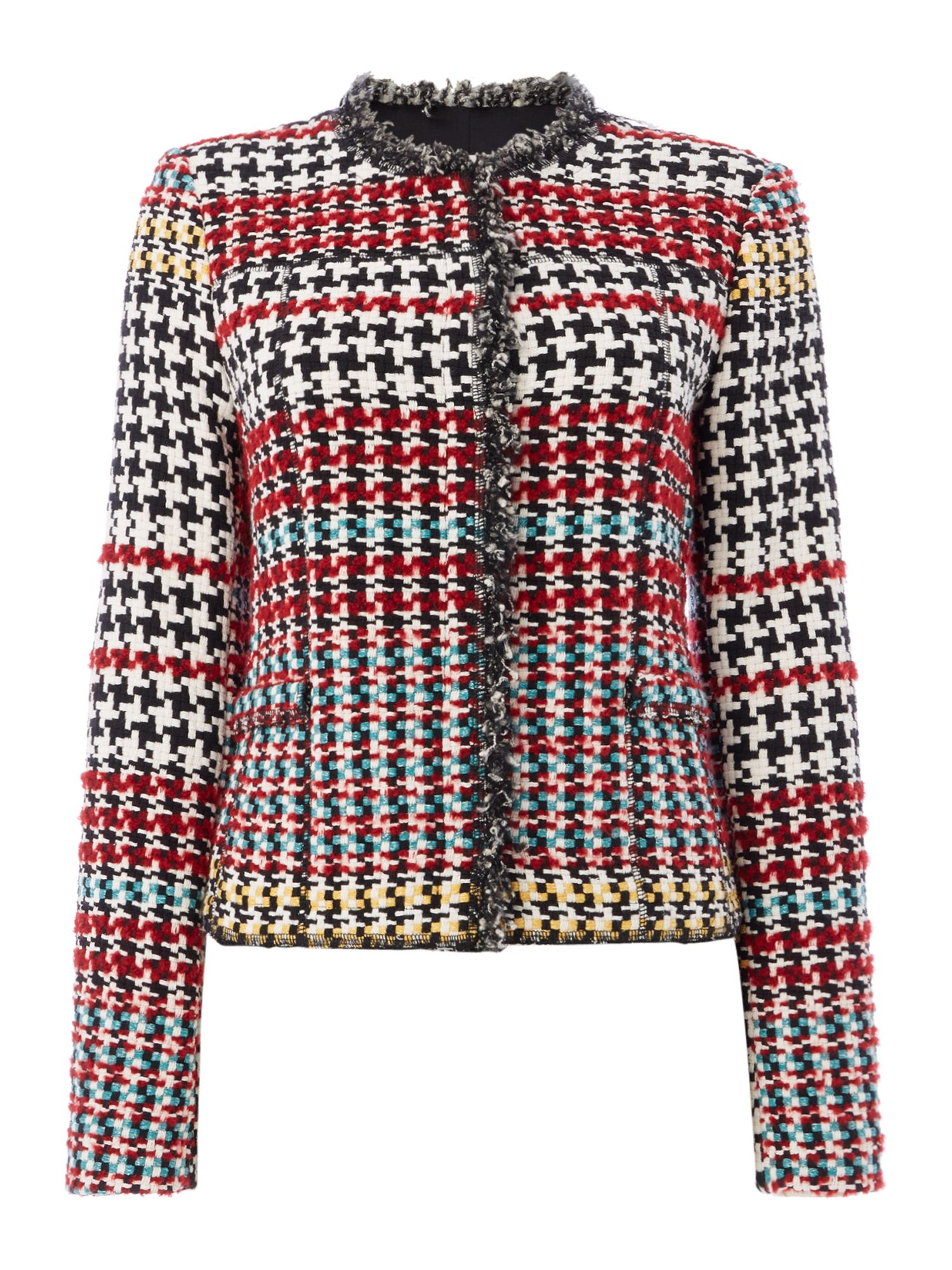 Oui Multi check jacket, Multi-Coloured