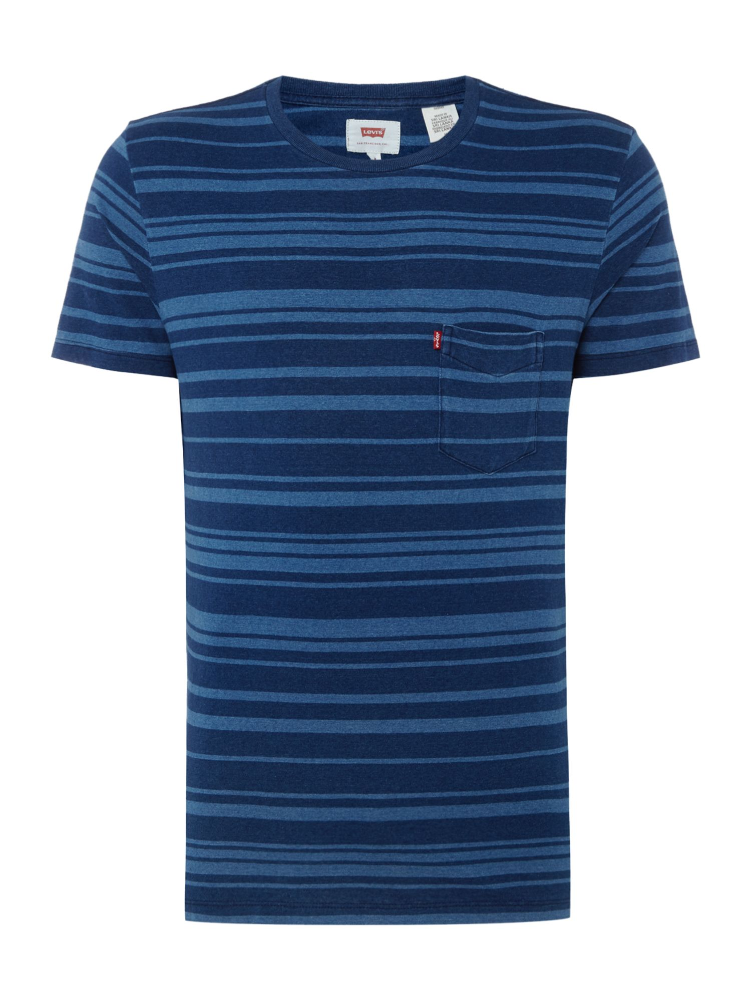 Men's Levi's Sunset pocket striped t-shirt, Blue