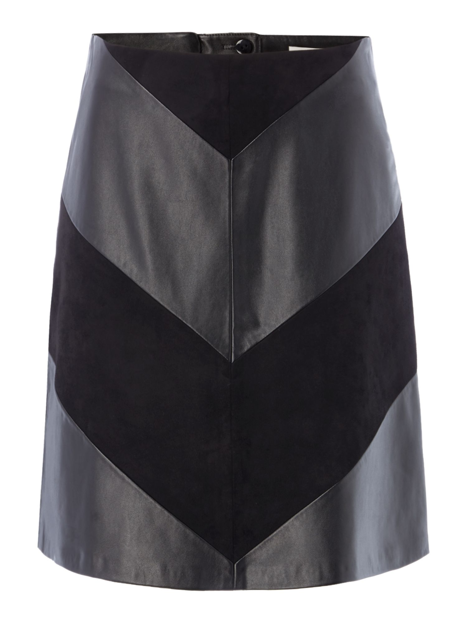 Oui Leatherette skirt, Black