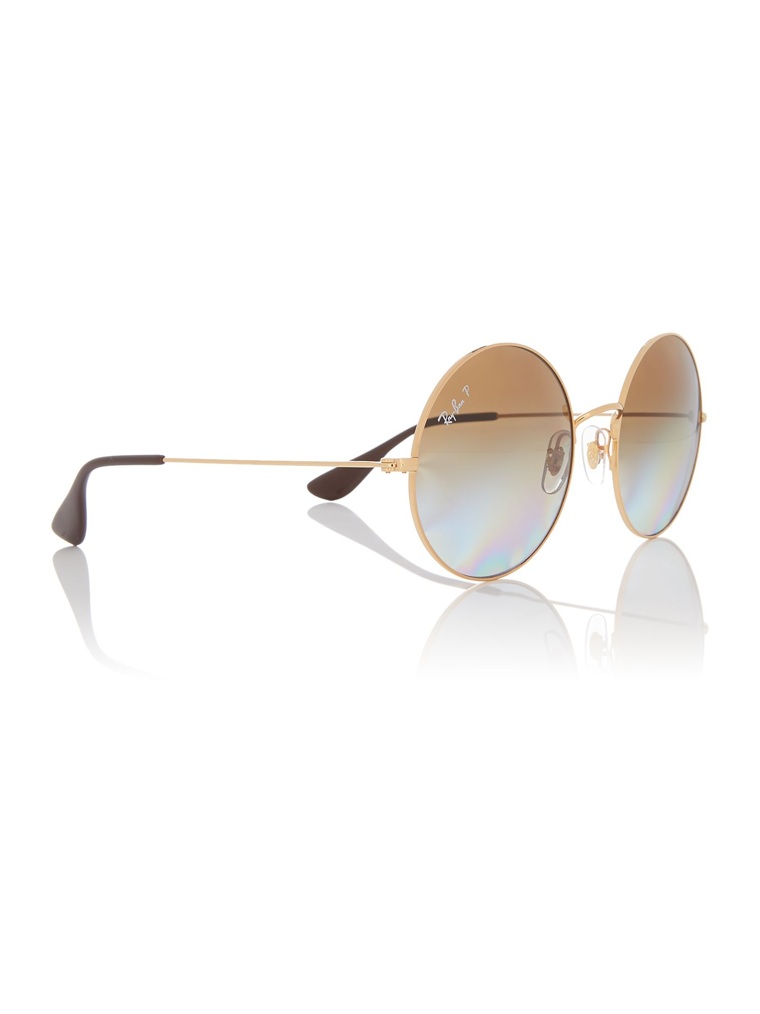 Ray-Ban Gold 0RB3592 Round Sunglasses, Gold
