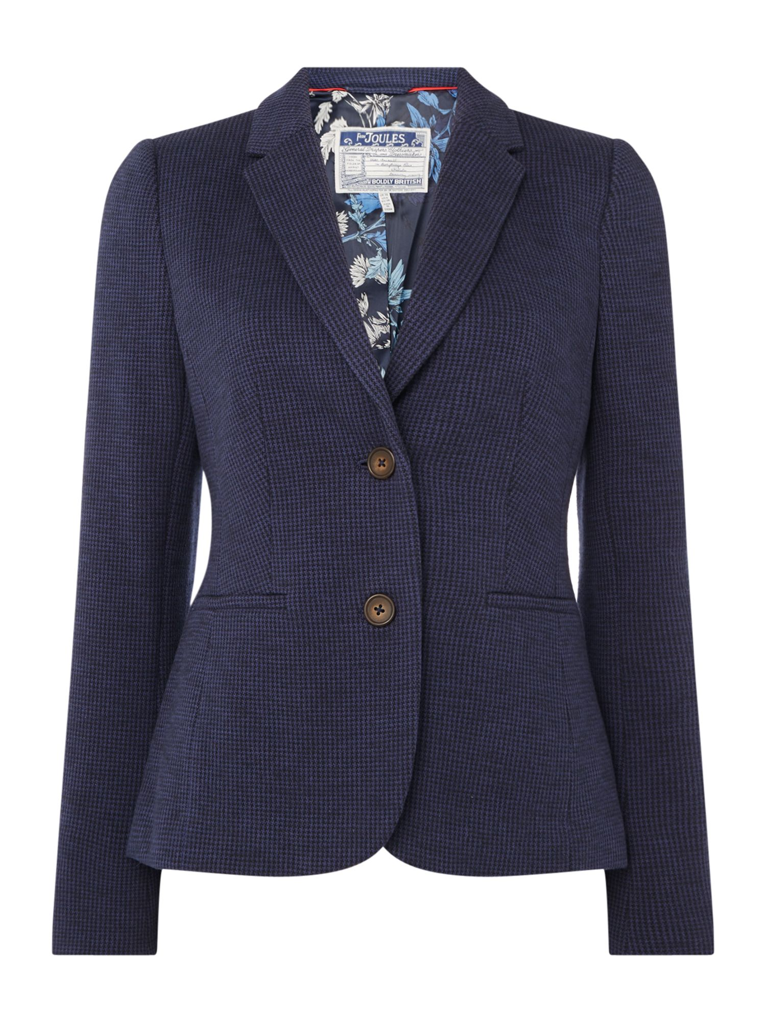 Joules JERSEY TWEED BLAZER, Blue
