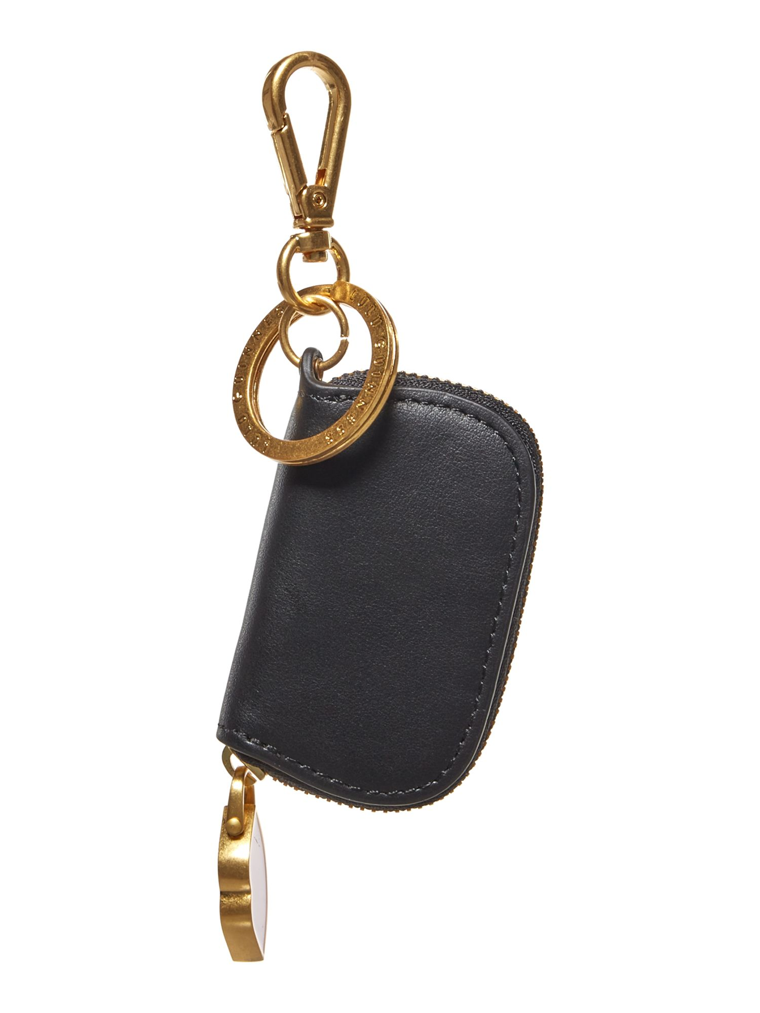 Lulu Guinness Coin irina leather keyring, Multi-Coloured
