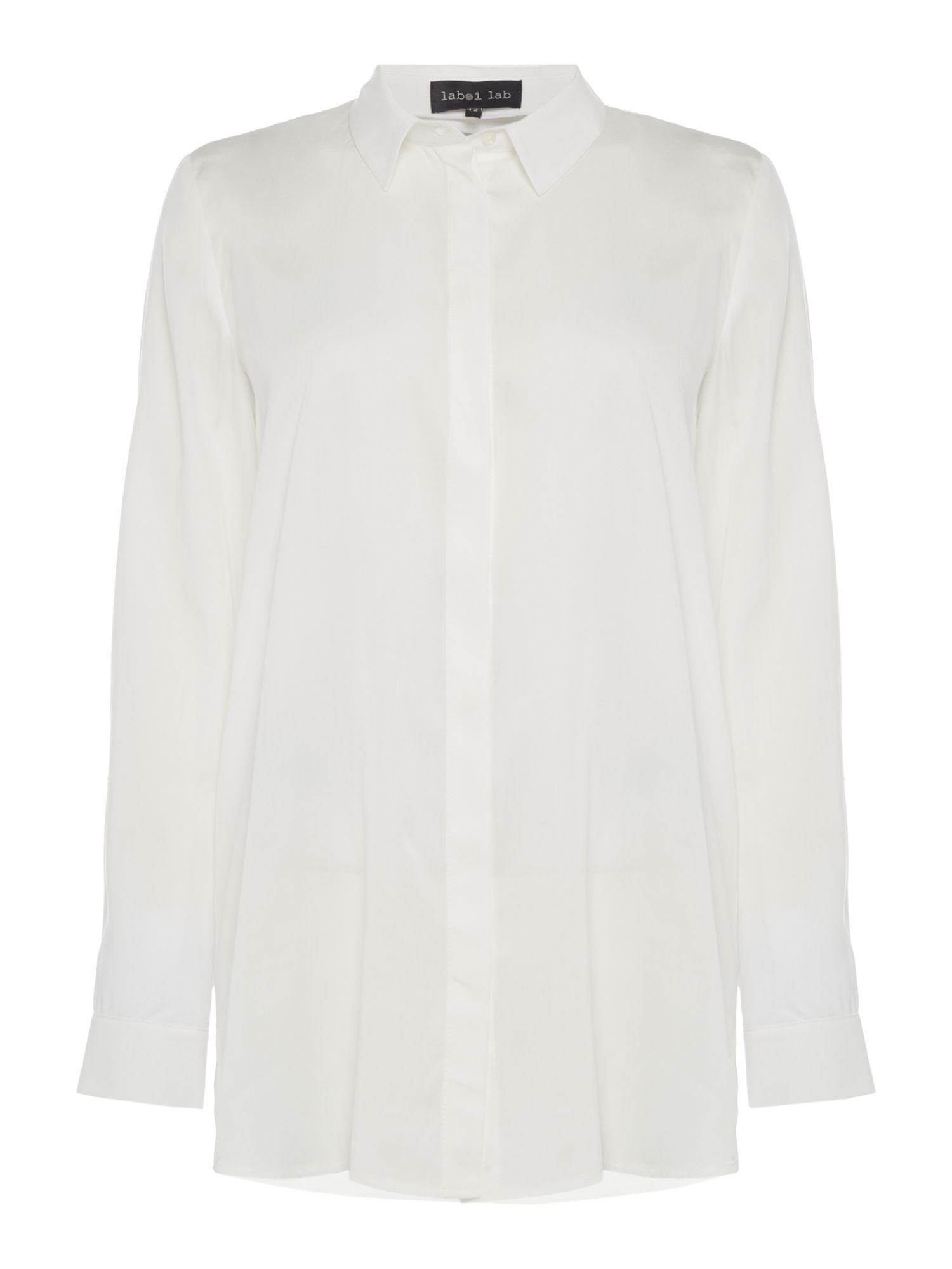 Label Lab D-Ring Longline Shirt, White