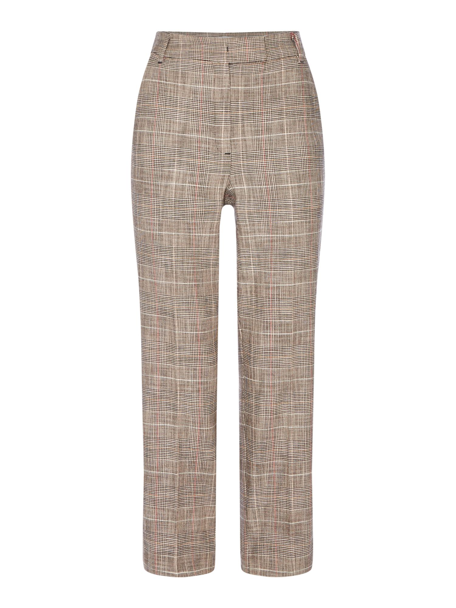 Marella Nausica checked cropped trouser, Light Grey