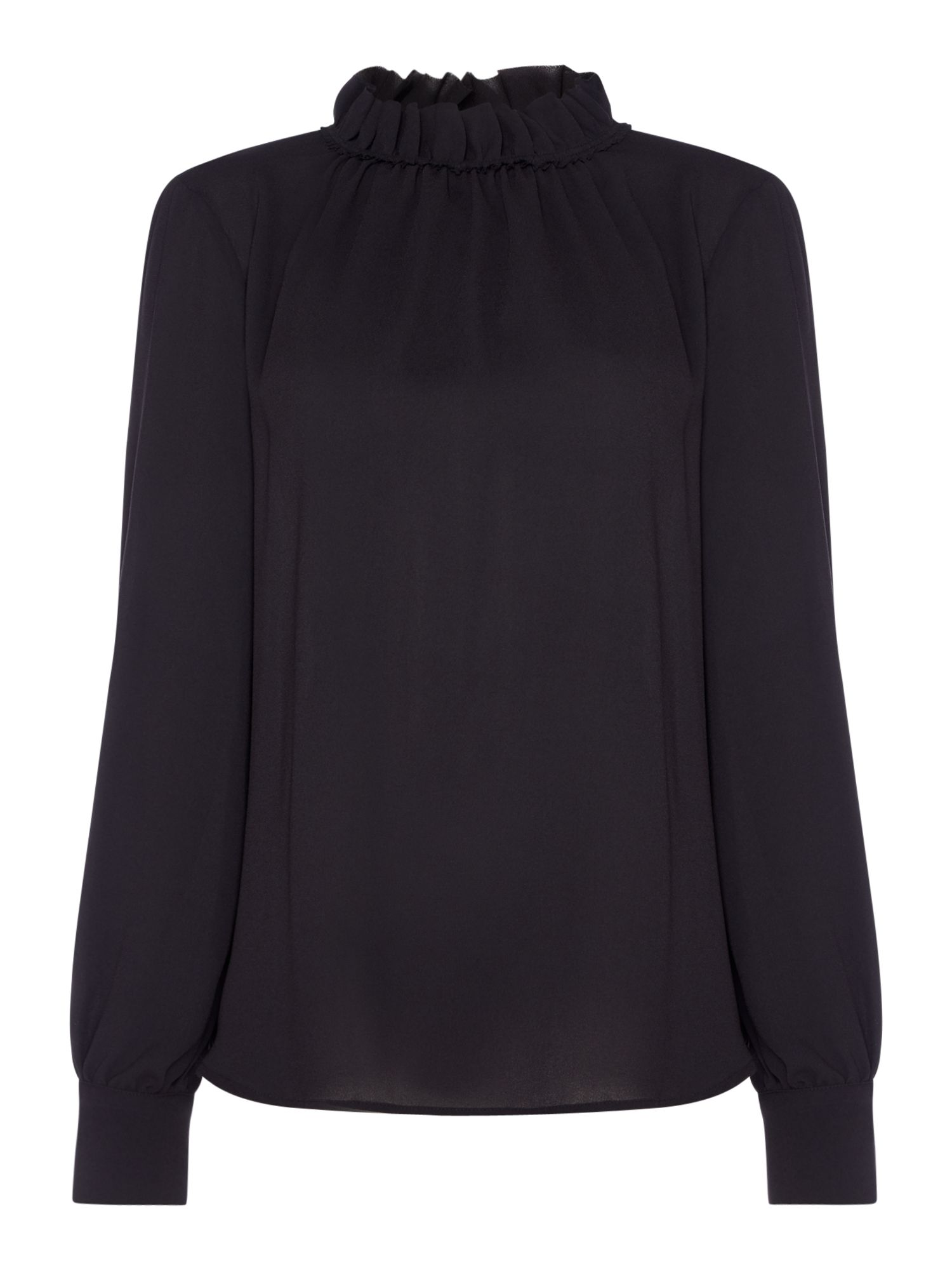 Marella Lecce ruched blouse, Black
