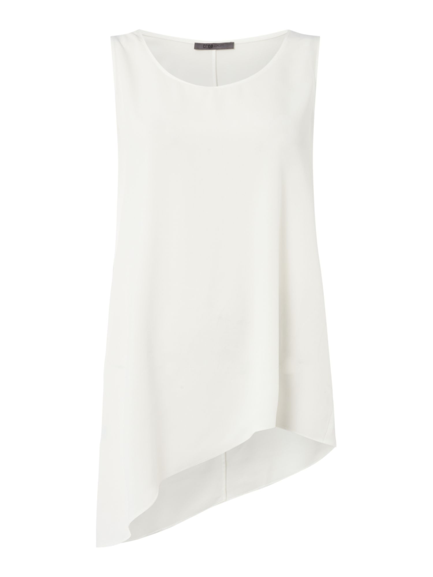 Crea Concept Asymmetric sleeveless top, Off White