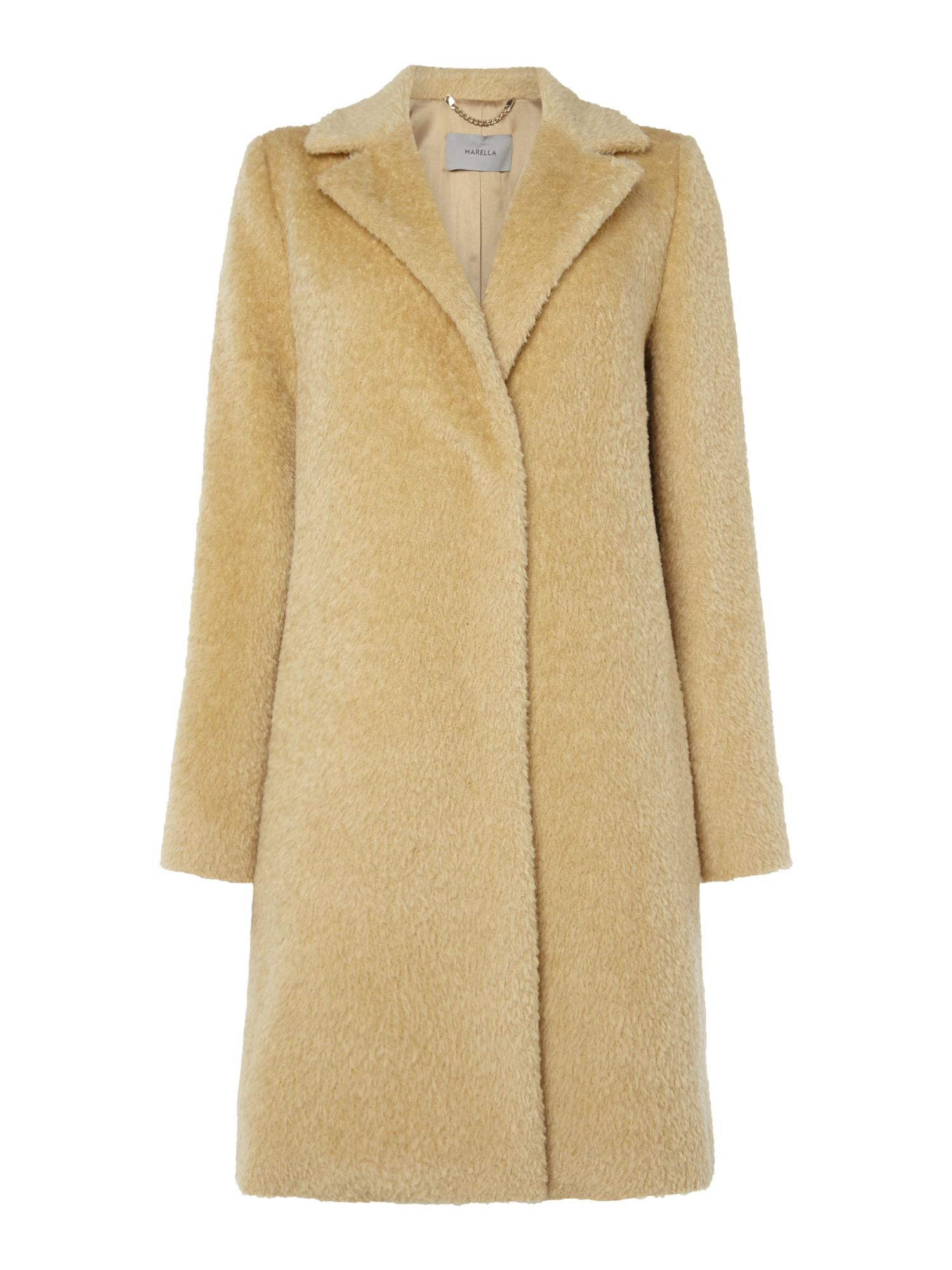 Marella Berma yellow wool coat, Yellow