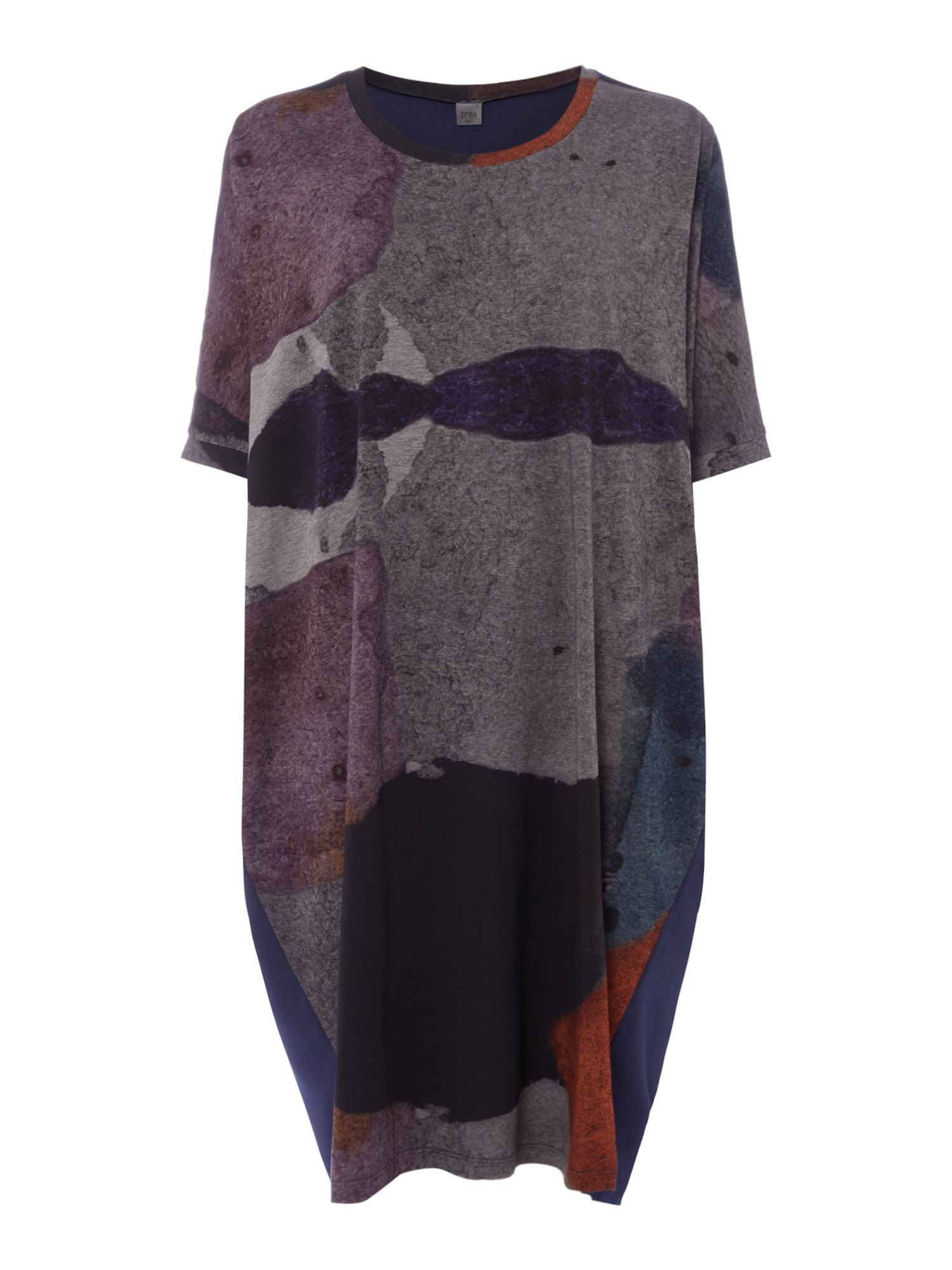 Crea Concept Mutli abstract print tunic, Multi-Coloured