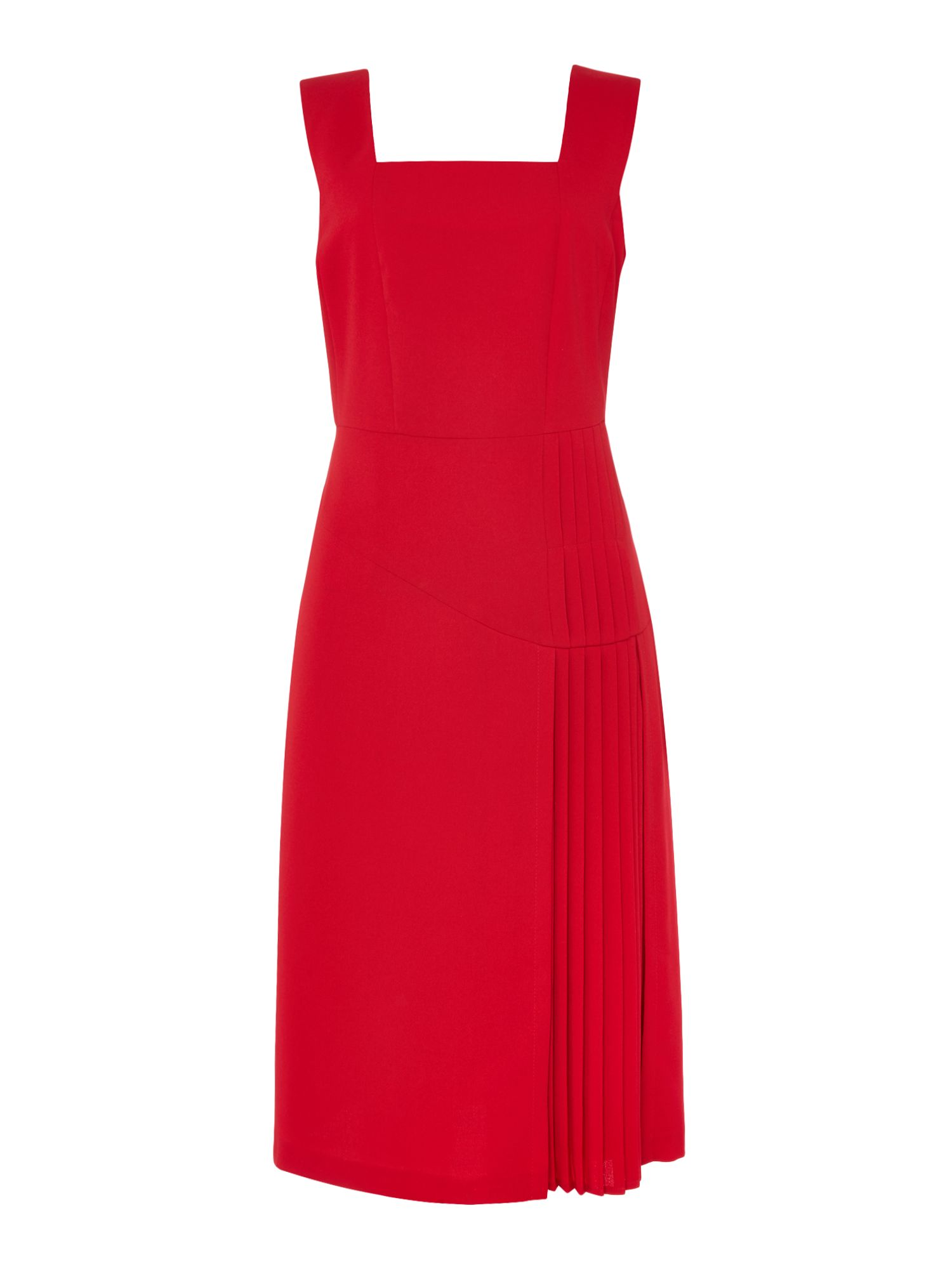 Linea Farah pleated dress, Red