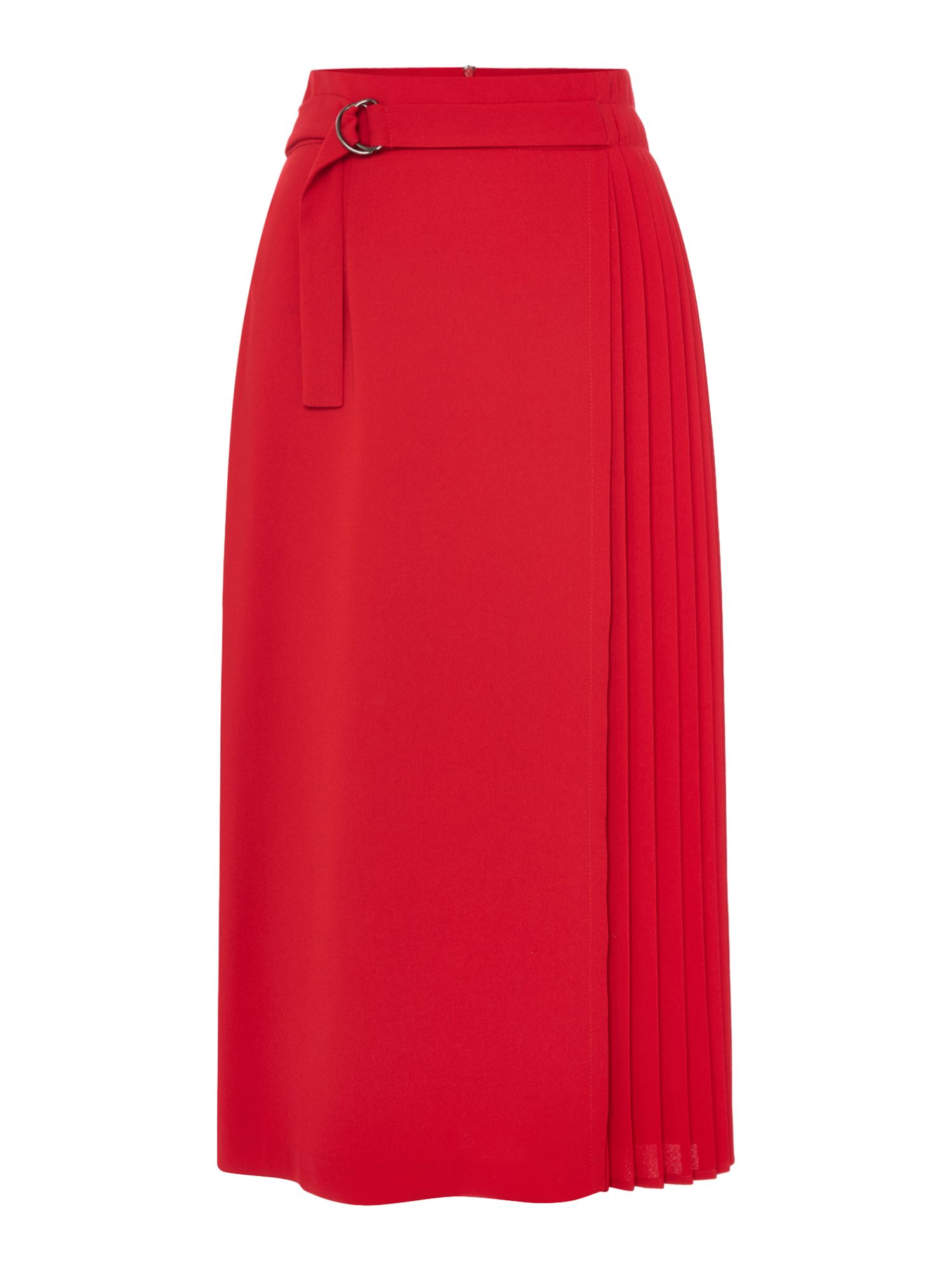 Linea Nova pleated skirt, Red