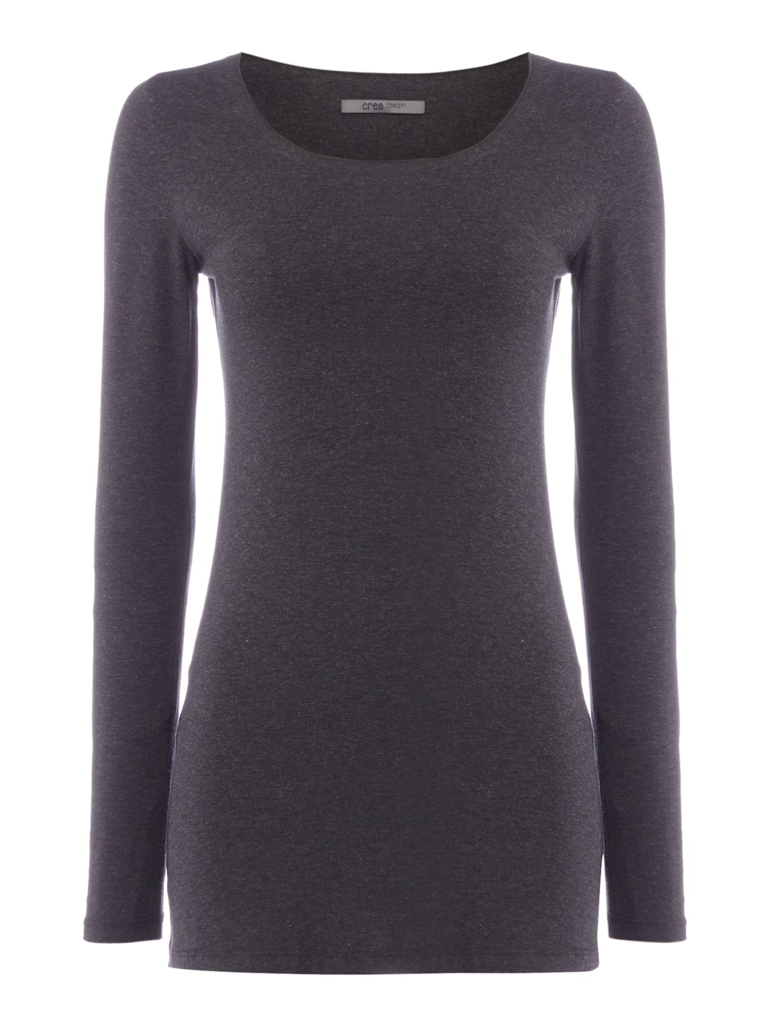 Crea Concept Long sleeve jersey top, Dark Grey