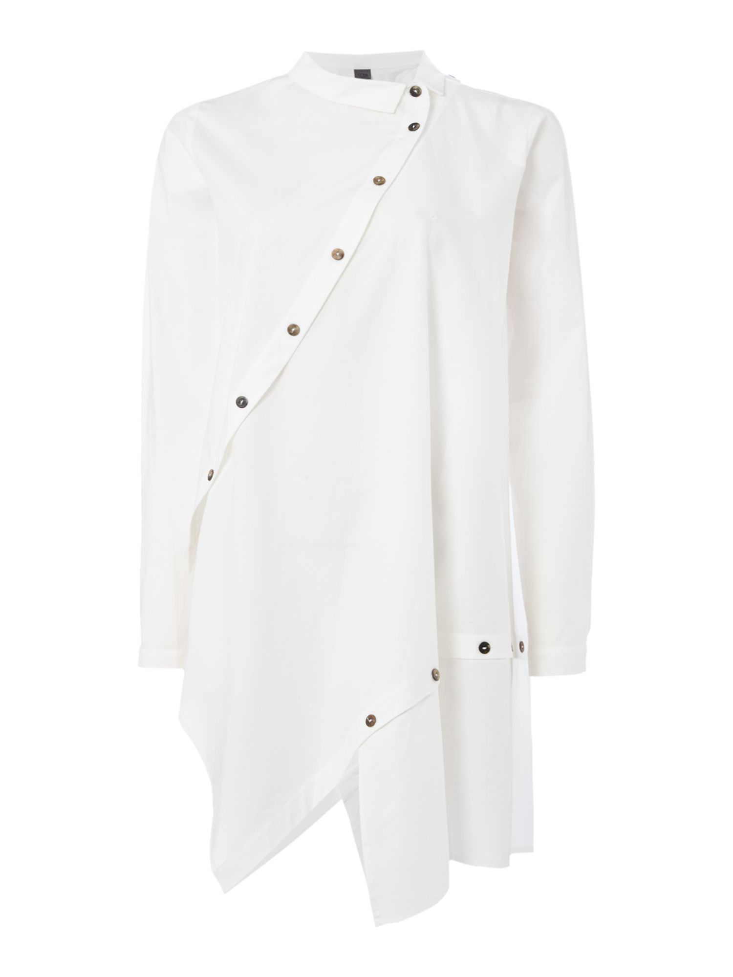 Crea Concept White asymmetric shirt, White
