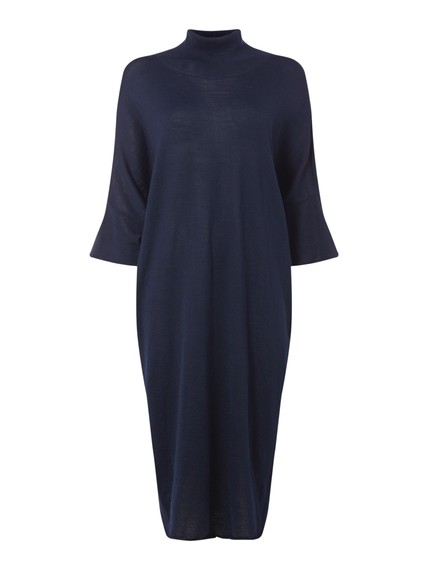 Crea Concept Roll neck oversized dress, Blue