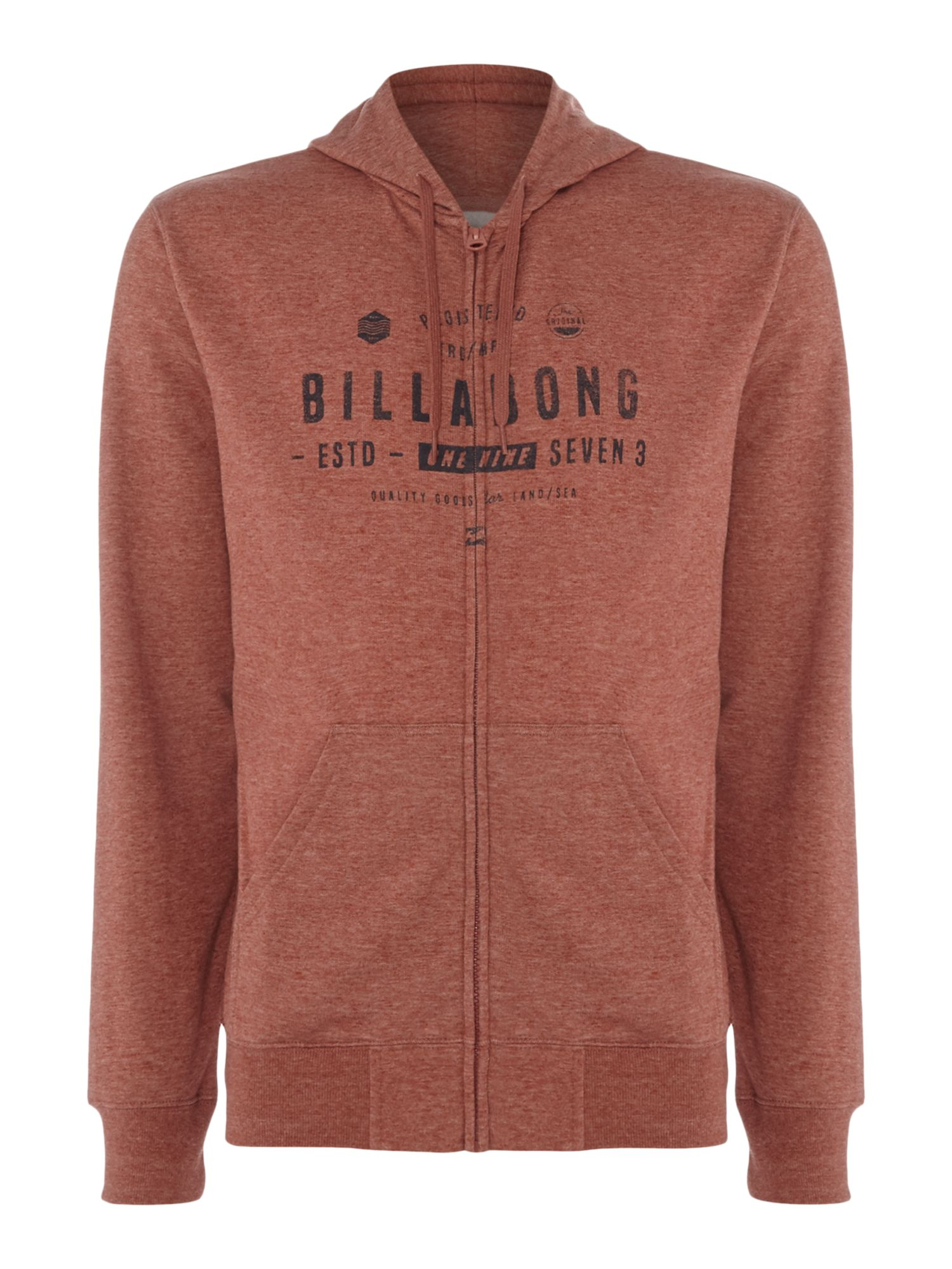 Men's Billabong 220g Brushed Fllece Zip Hood, Red