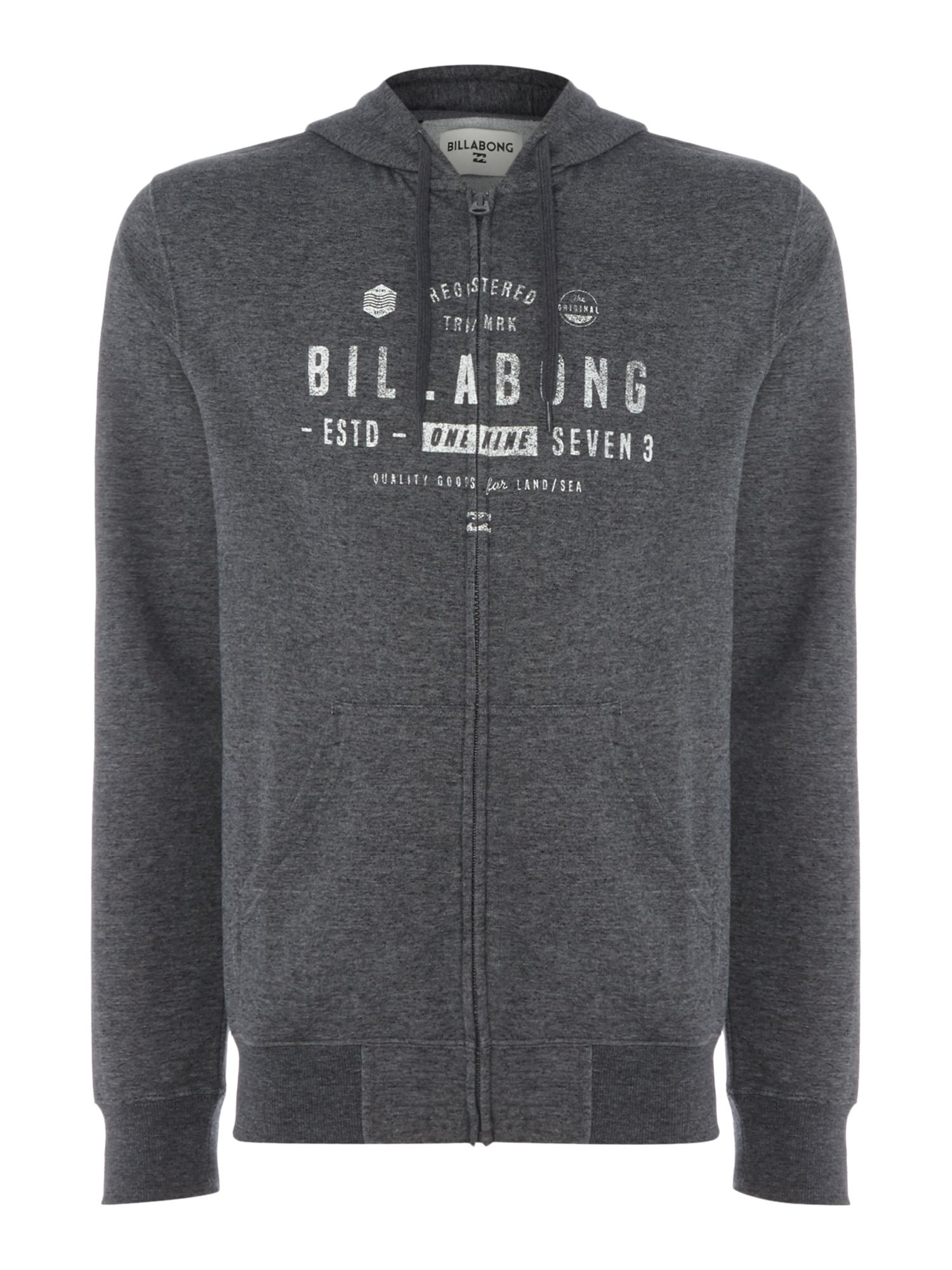 Men's Billabong 220g Brushed Fllece Zip Hood, Grey