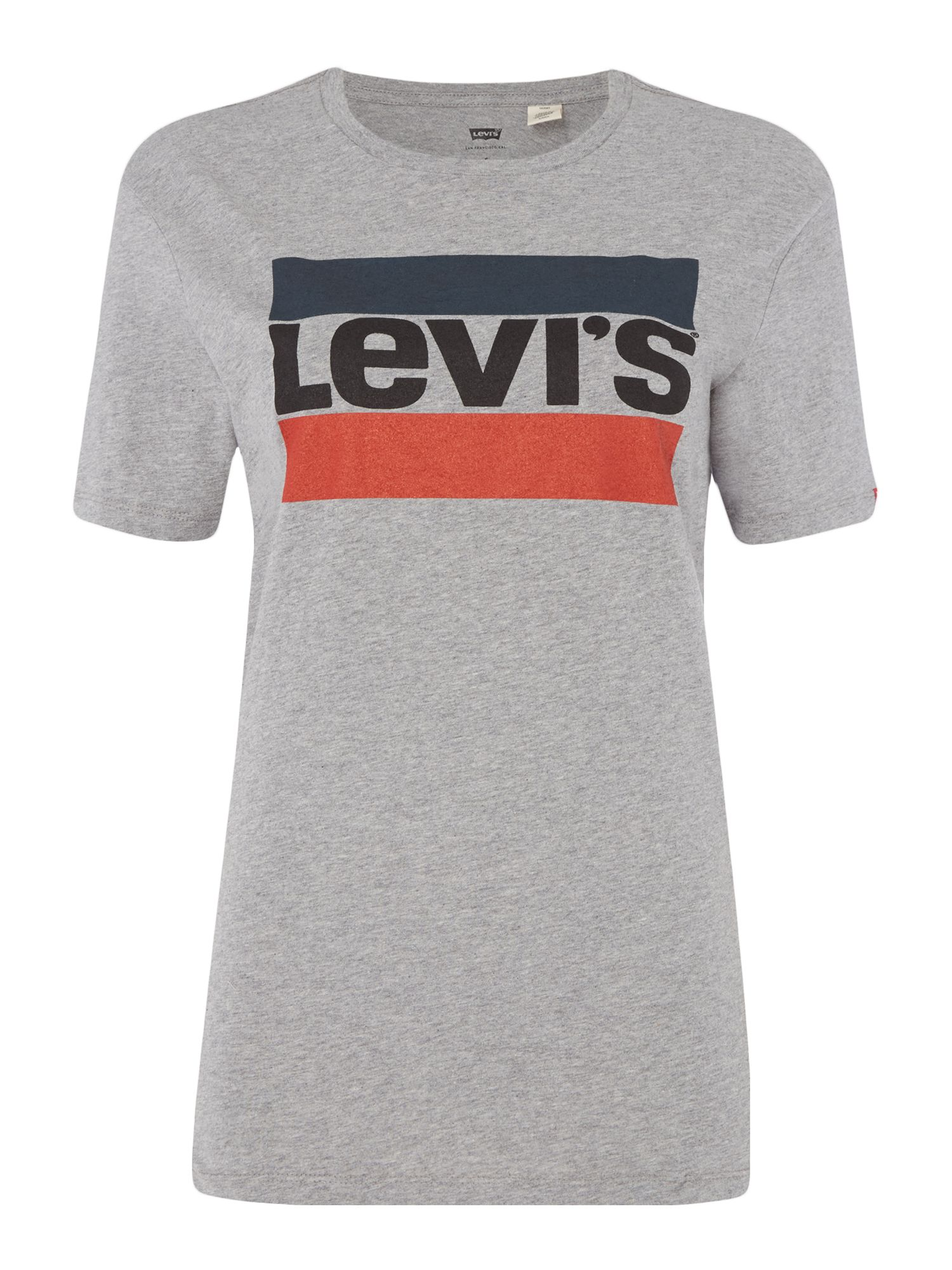 Levi's Perfect Tee With Sport Logo, Grey