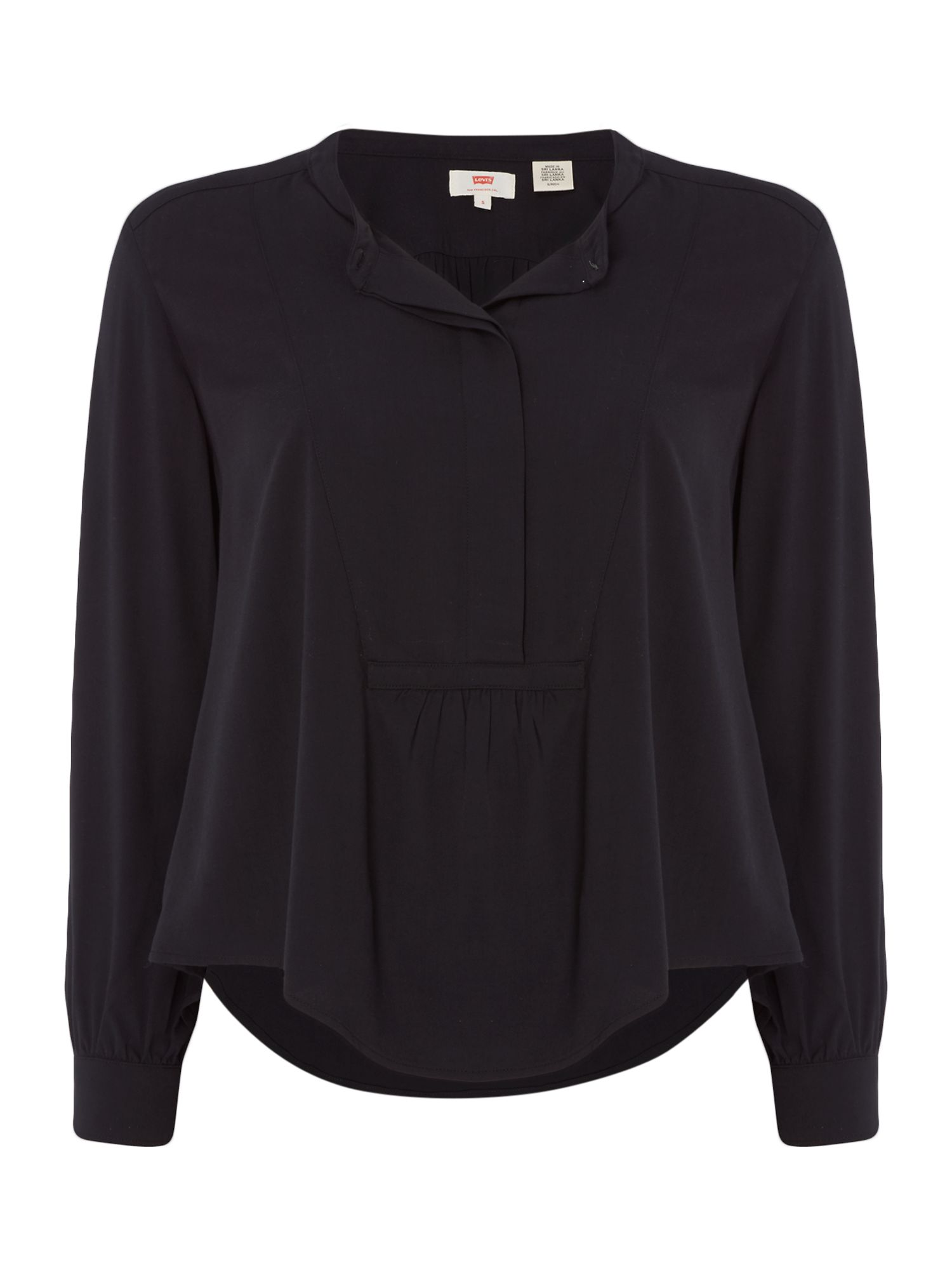 Levi's Long sleeves Blouse with collar, Black
