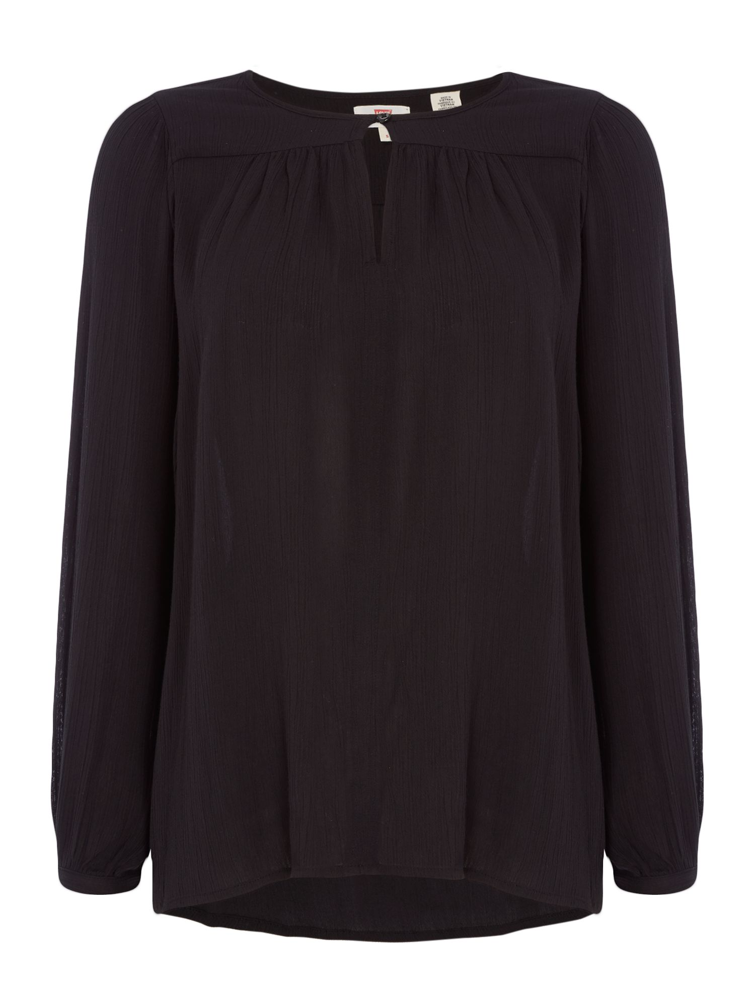 Levi's Long sleeves blouse with button detail, Black