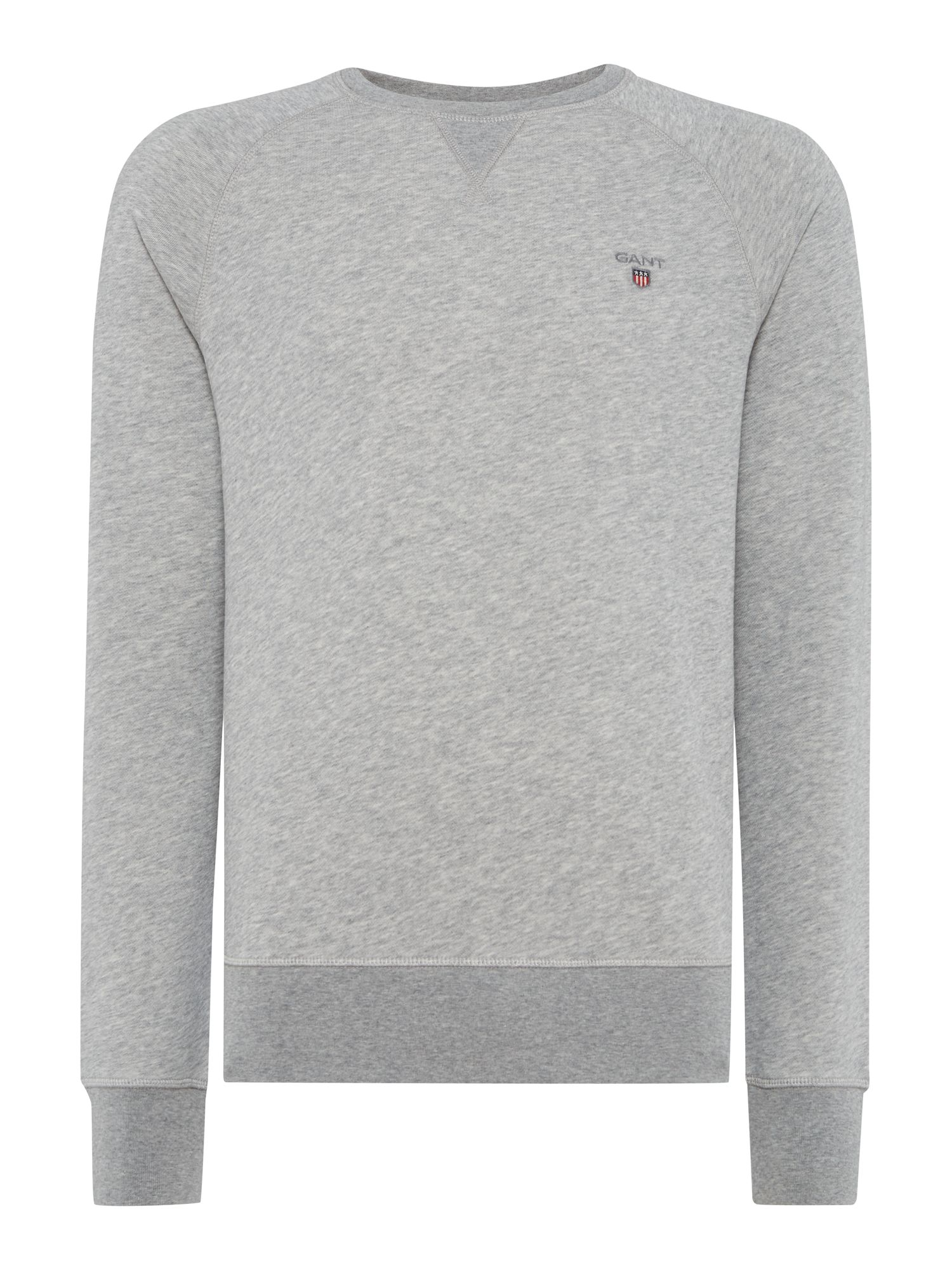 Men's Gant Original Crew Neck Sweat, Grey Marl