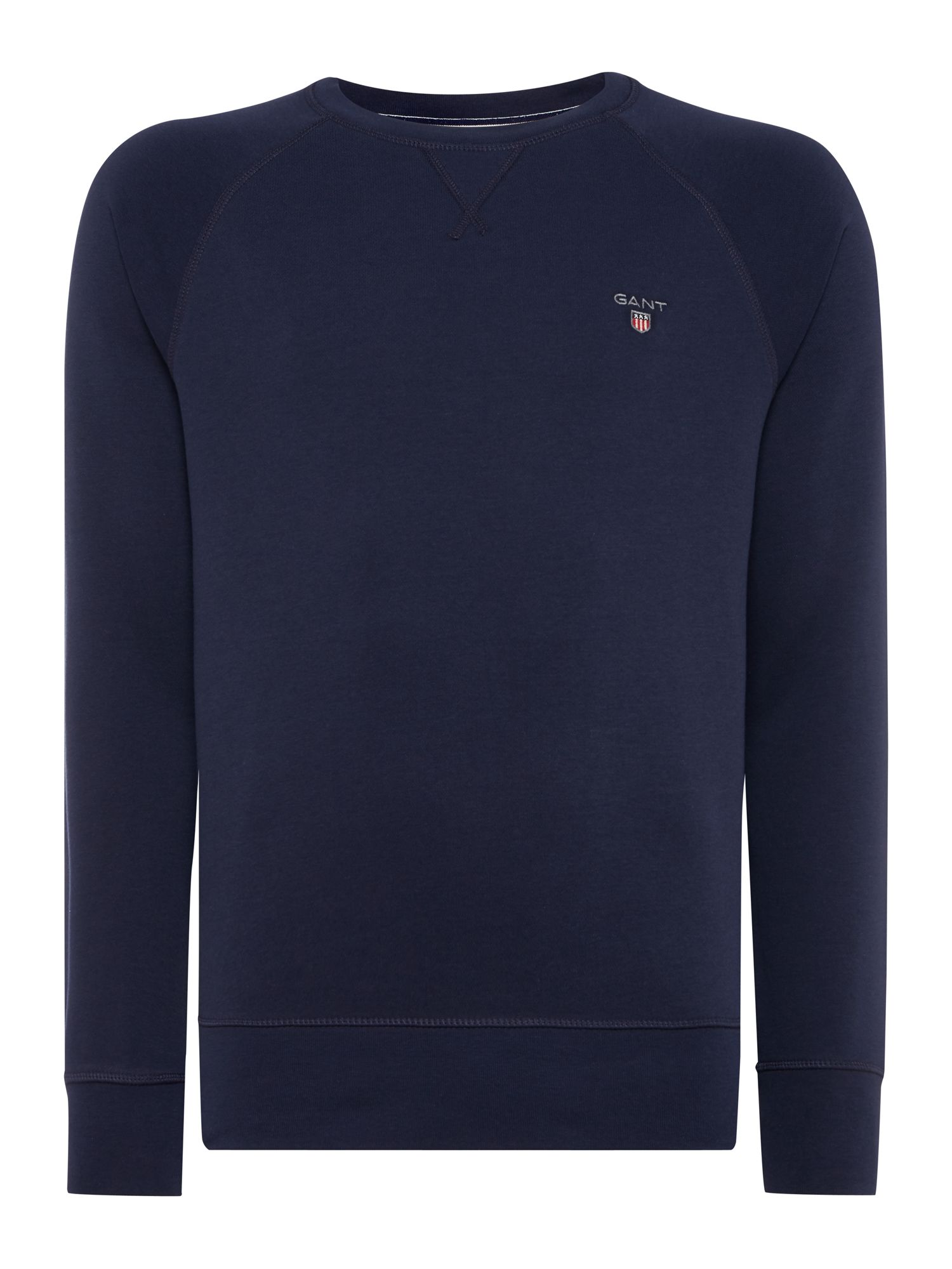 Men's Gant Original Crew Neck Sweat, Blue